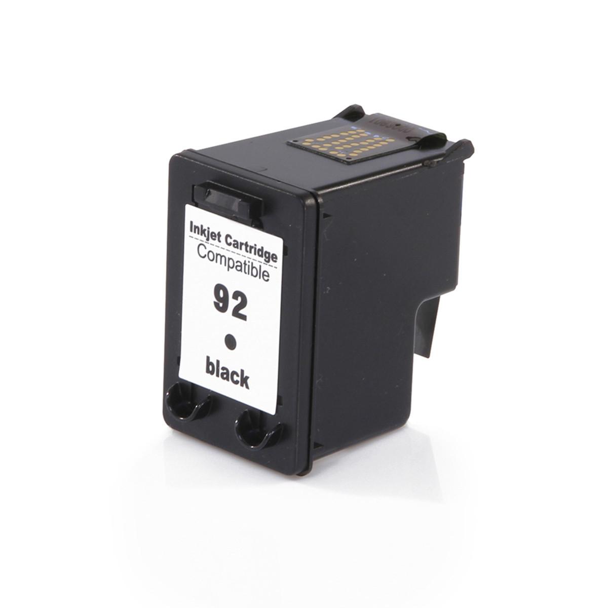 Cartucho de Tinta Compatível com HP 92 C9362WB Preto | D4100 6210 2570 PSC-1507 8ml