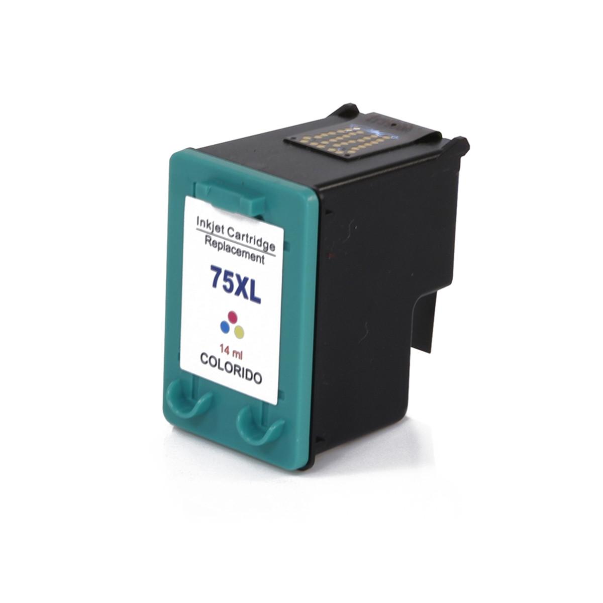 Cartucho de Tinta Compatível HP 75XL CB338WB Colorido | Photosmart C4480 C4280 C5280 | 18ml