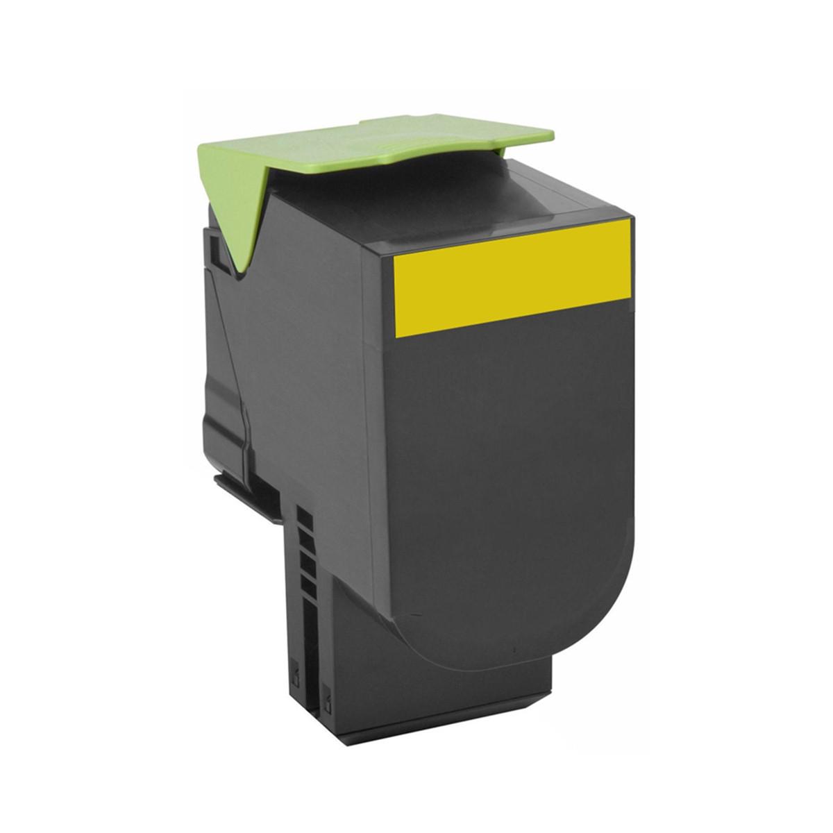 Toner Lexmark CX510 CX510de CX510dhe Amarelo | 80C8XY0 | Original 4k
