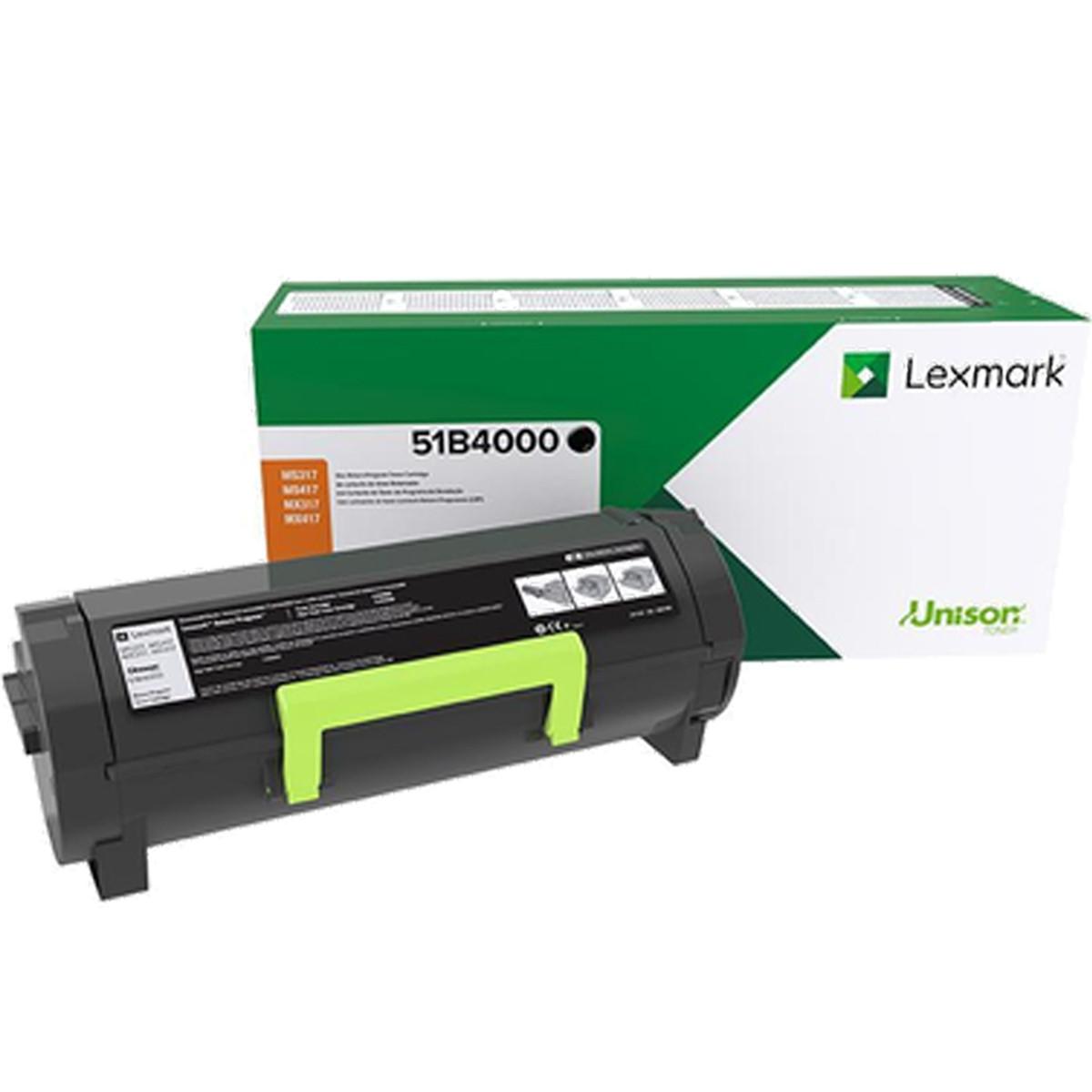 Toner Lexmark 51B4000 51B4   MX317 MX417 MX517 MS317 MS417 MS517 317DN 417DE 517DE   Original 2.5k