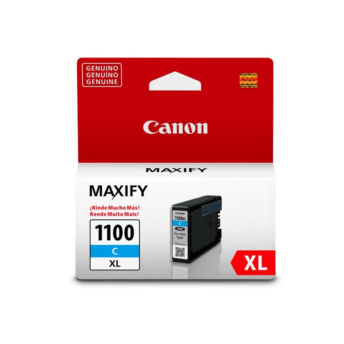 Cartucho de Tinta Canon PGI-1100XL PGI1100XL Ciano   Original 12ml