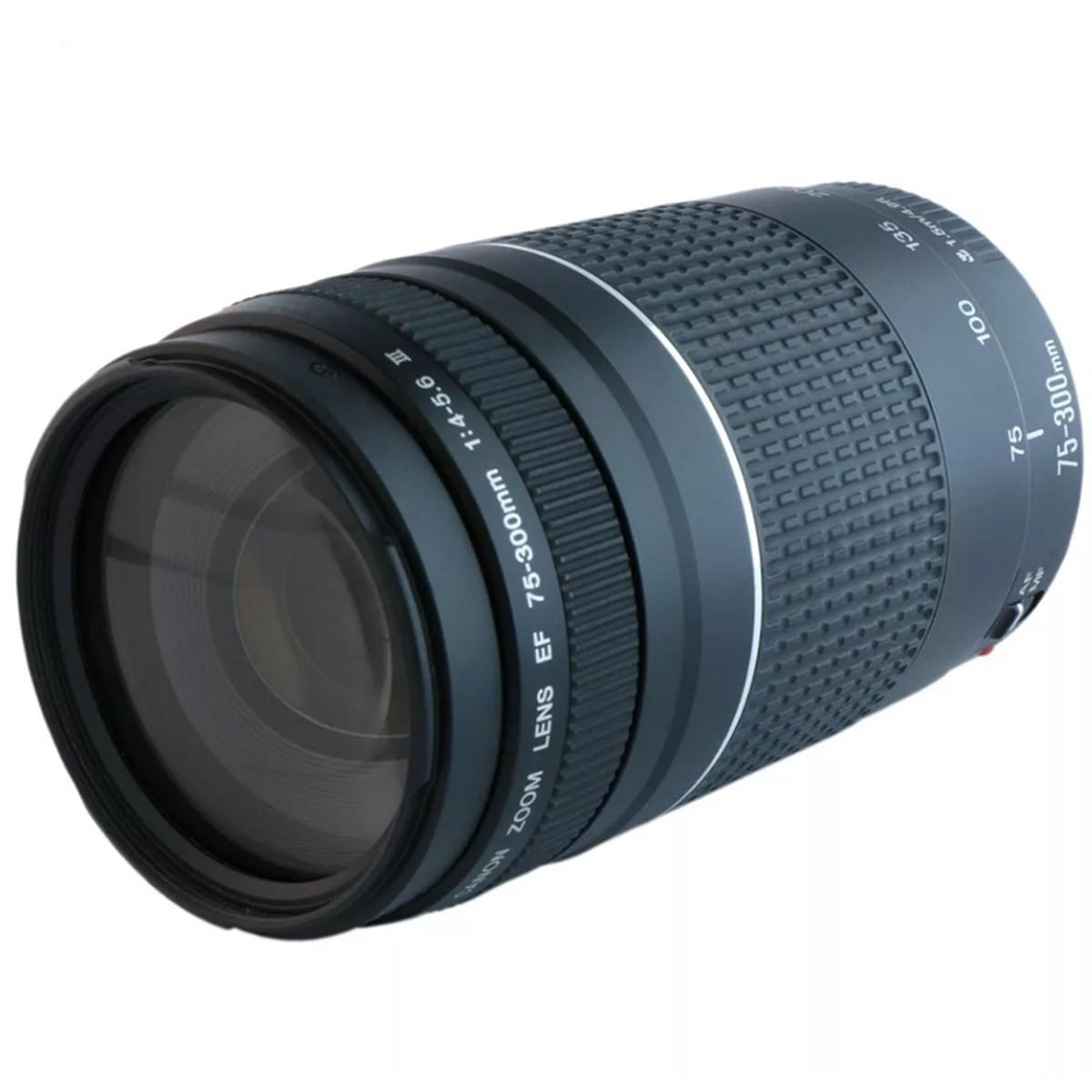 Lente Profissional EF75-300 F4-5.6III   Canon