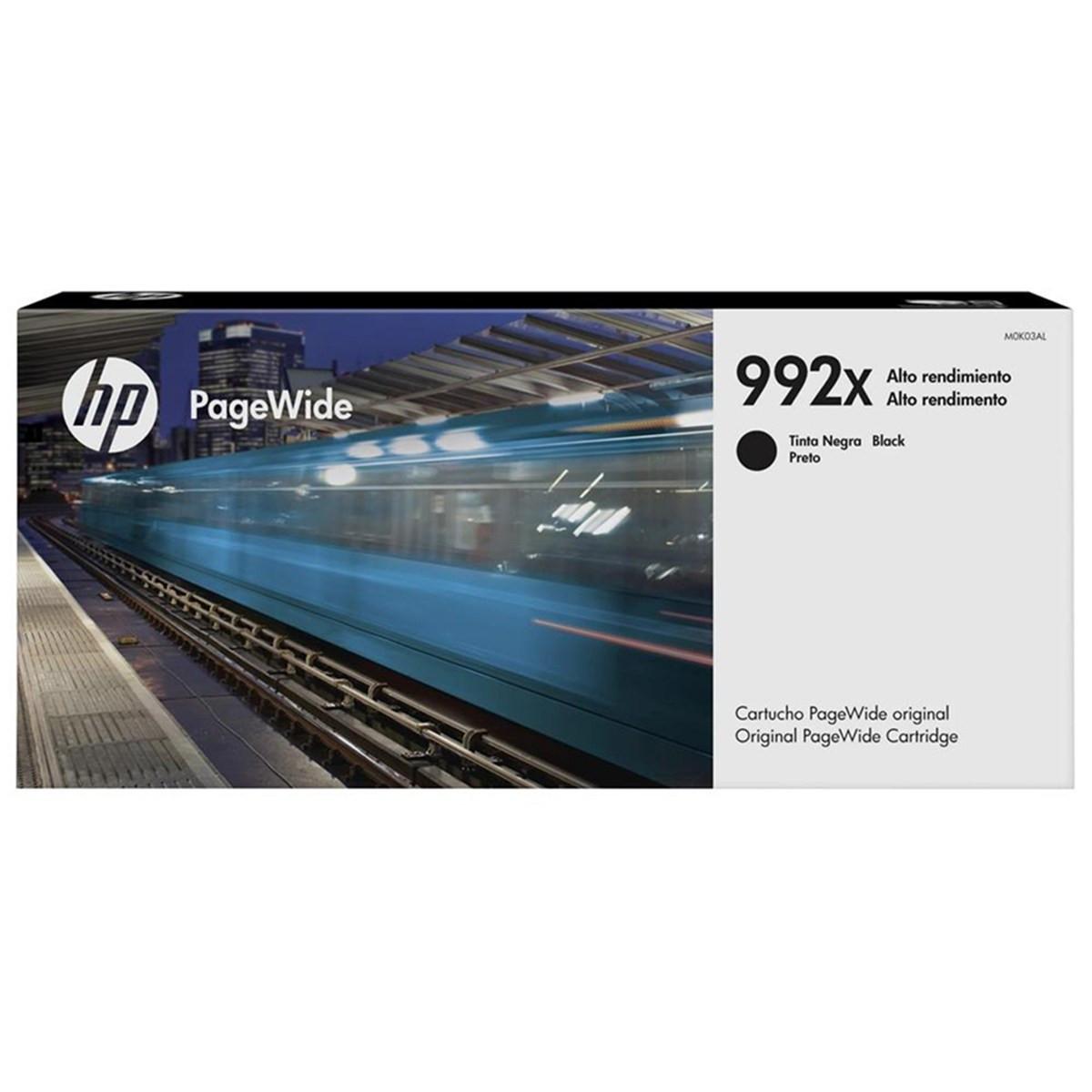 Cartucho de Tinta HP 992XC 992X Preto M0K30XC | PageWide Pro 77740DW 77750 75050 | Original 412ml