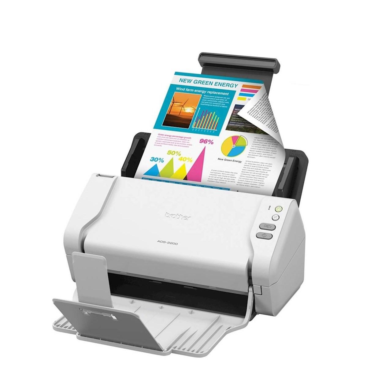 Scanner Brother ADS-2200 | Conexão USB Até Tamanho A4 ADF para 50 Folhas com Duplex