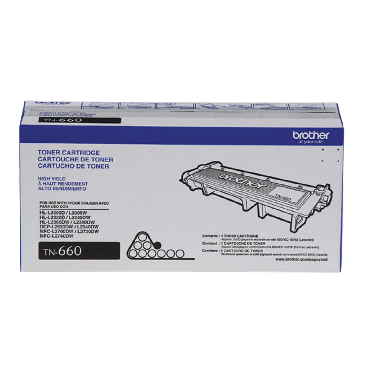 Toner Brother TN660 | DCP-L2540 DCP-L2520 MFC-L2740 MFC-L2700 MFC-L2720 HL-L2360 | Original 2.6k