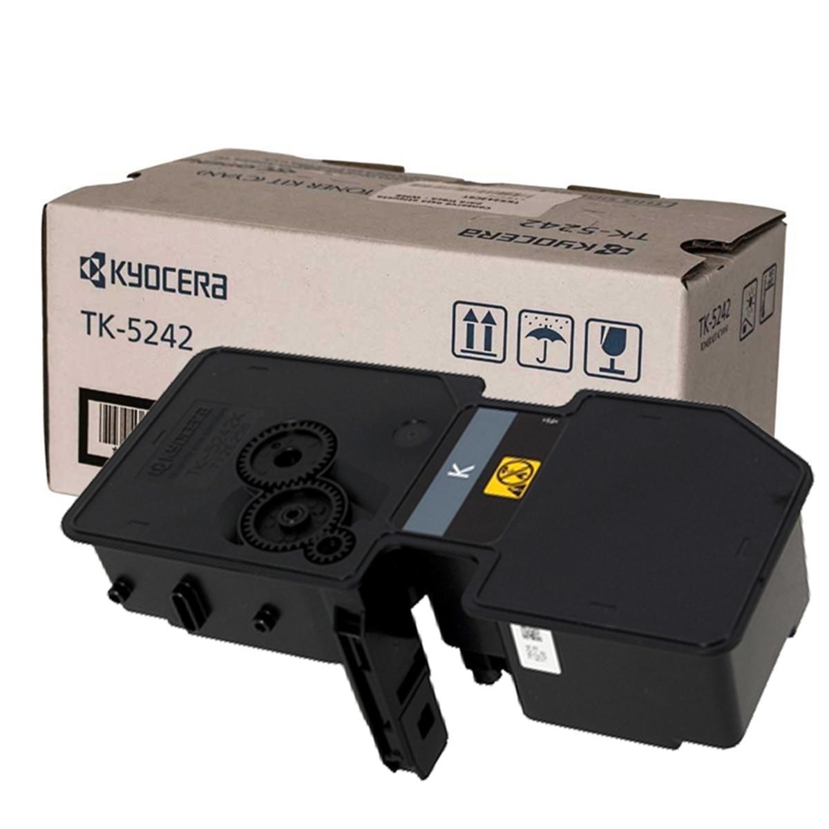 Toner Kyocera TK 5242K Preto   M5526CDW P5026CDN M5526 P5026 5526CDW 5026CDN 5526 5026   Original 4k