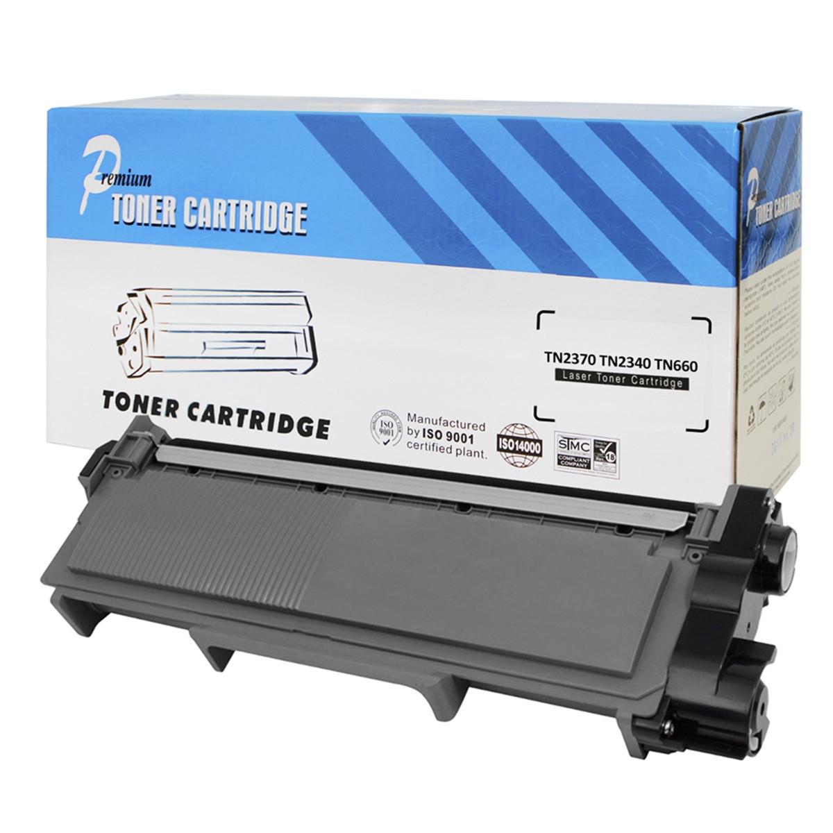 Caixa com 10 Toner Compatível com Brother TN2370 TN2340 TN660 | 2360 2320 2720 2740 2700 | Premium