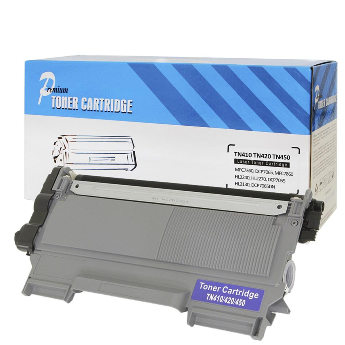 Caixa com 10 Toner Compatível com Brother TN450 TN410 TN420 | 7055 7065DN 2230 2240 7460DN | Premium