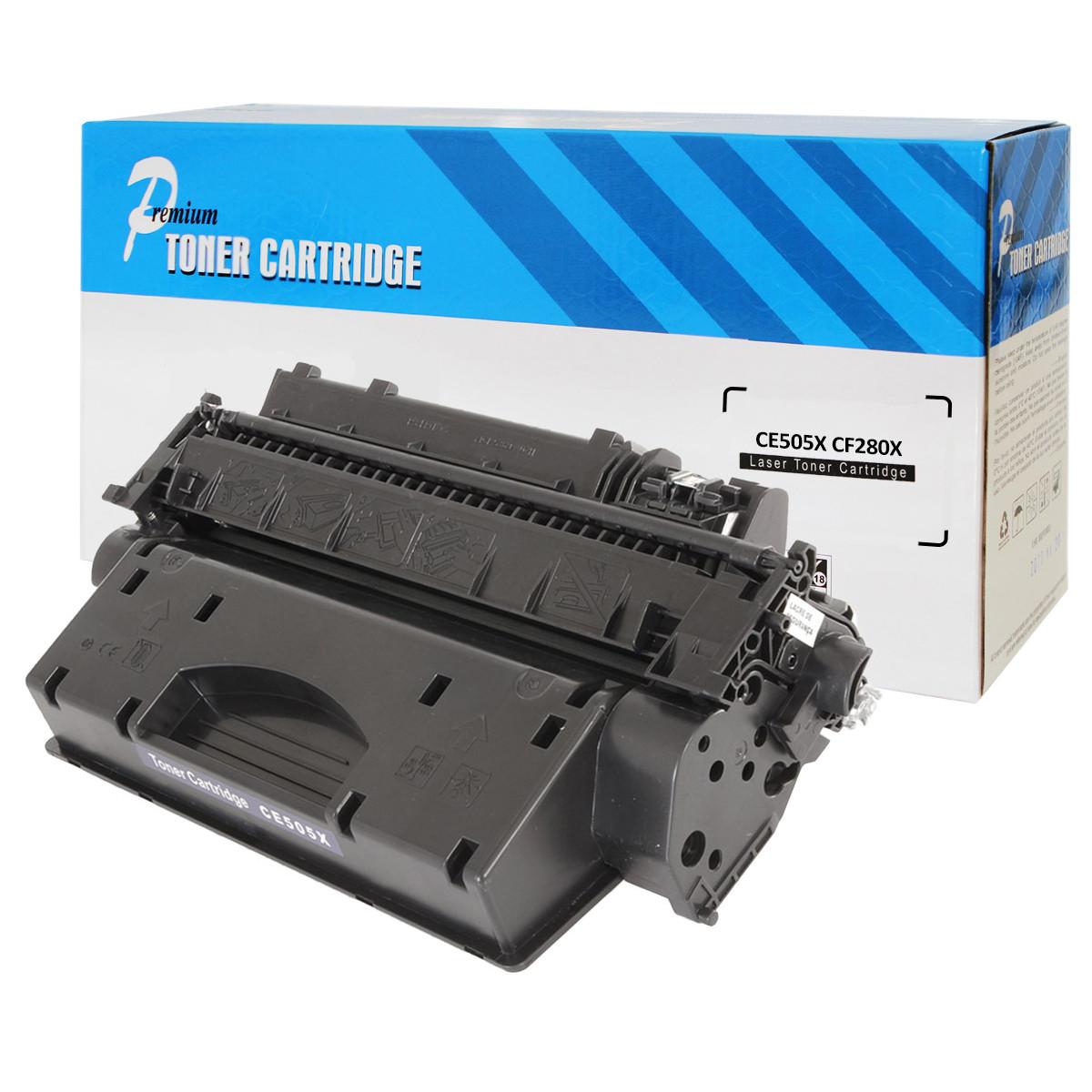 Caixa com 10 Toner Compatível com HP CE505X CF280X   P2055 M401 2055N 2055DN 2055X   Premium