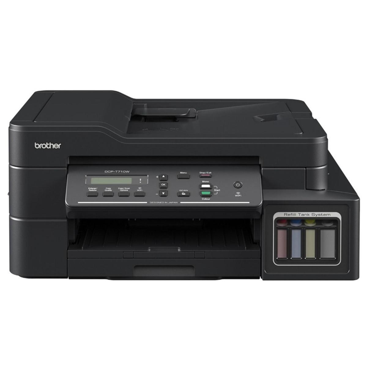 Impressora Brother DCP-T710W DCP-T710 Multifuncional Tanque de Tinta Colorida com Wireless