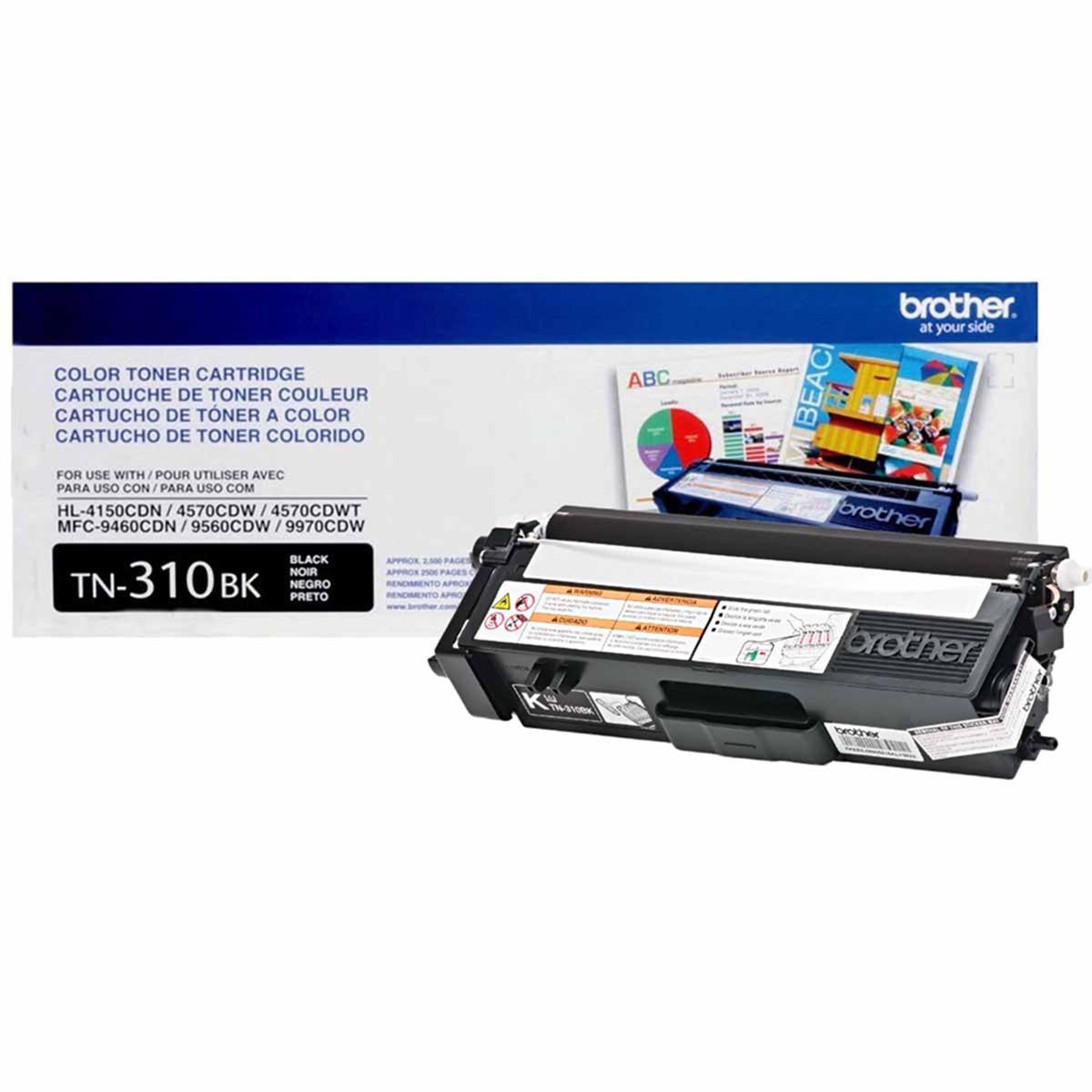 Toner Brother TN310 TN310BK Preto | HL4150 HL4570 MFC9970 MFC9460 MFC9560 | Original 2.5k