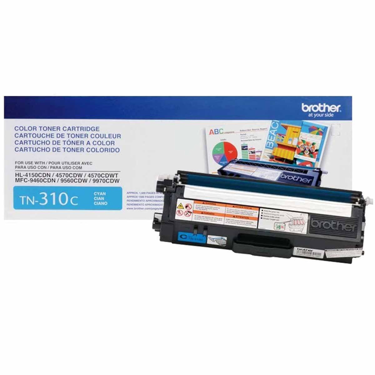 Toner Brother TN310 TN310C Ciano | HL4150 HL4570 MFC9970 MFC9460 MFC9560 | Original 1.5k