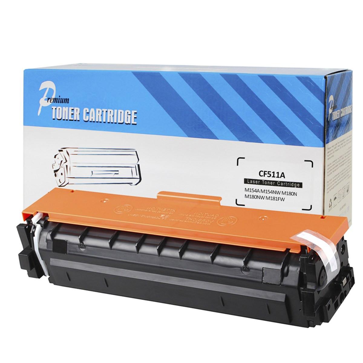 Toner Compatível com HP CF511A CF531A Ciano | M154 M180 M181 154A 154NW 180N 180NW 181FW | Premium