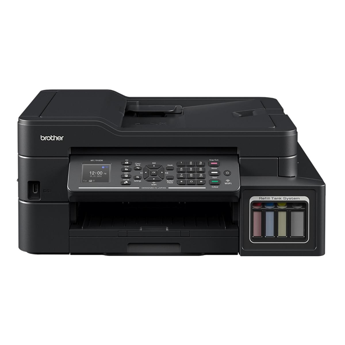 Impressora Brother MFC-T910DW Multifuncional Tanque de Tinta Colorida com Wireless e ADF