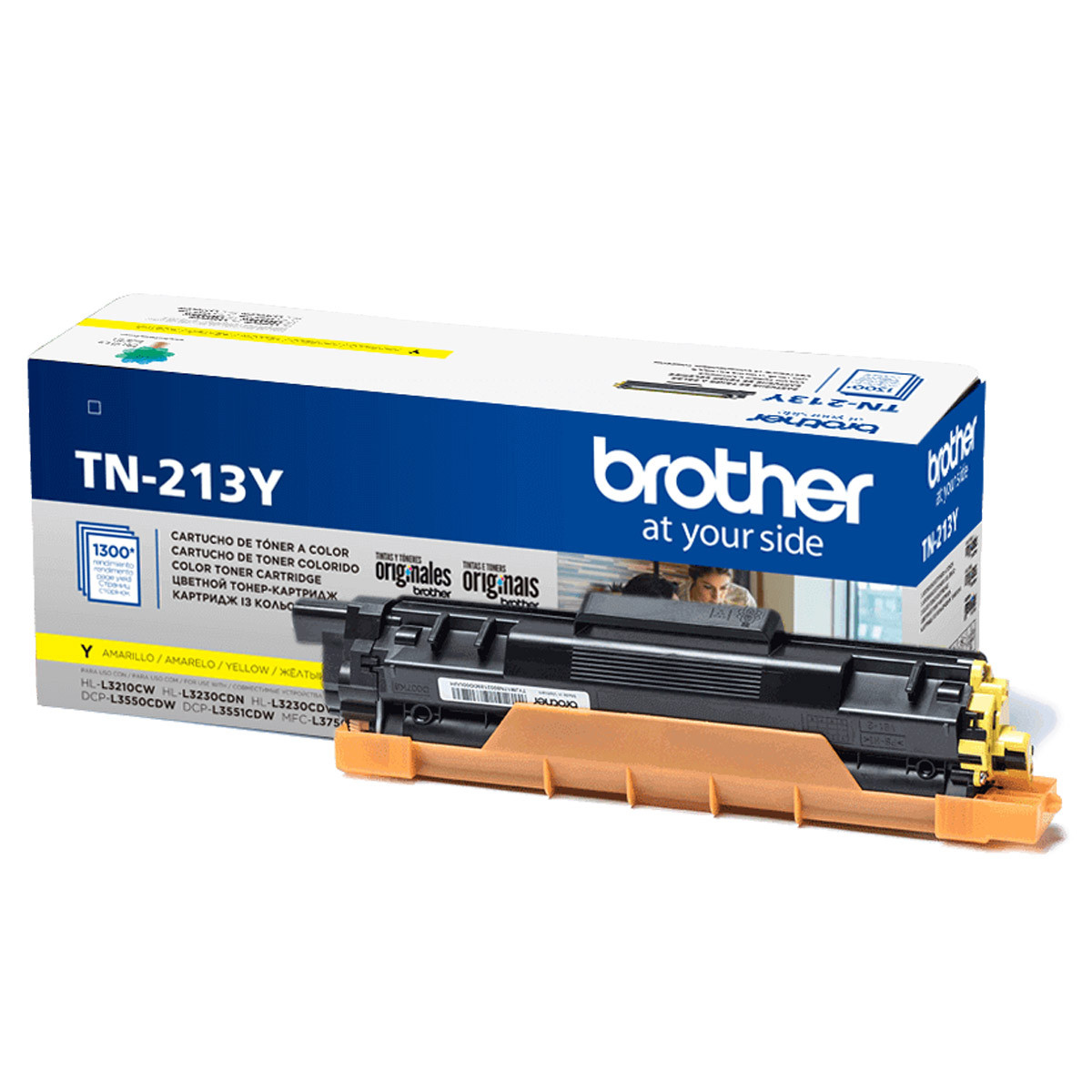 Toner Brother TN-213Y TN-213 Amarelo | MFC-L3750CDW L3750CDW L3750 | Original 1.3K
