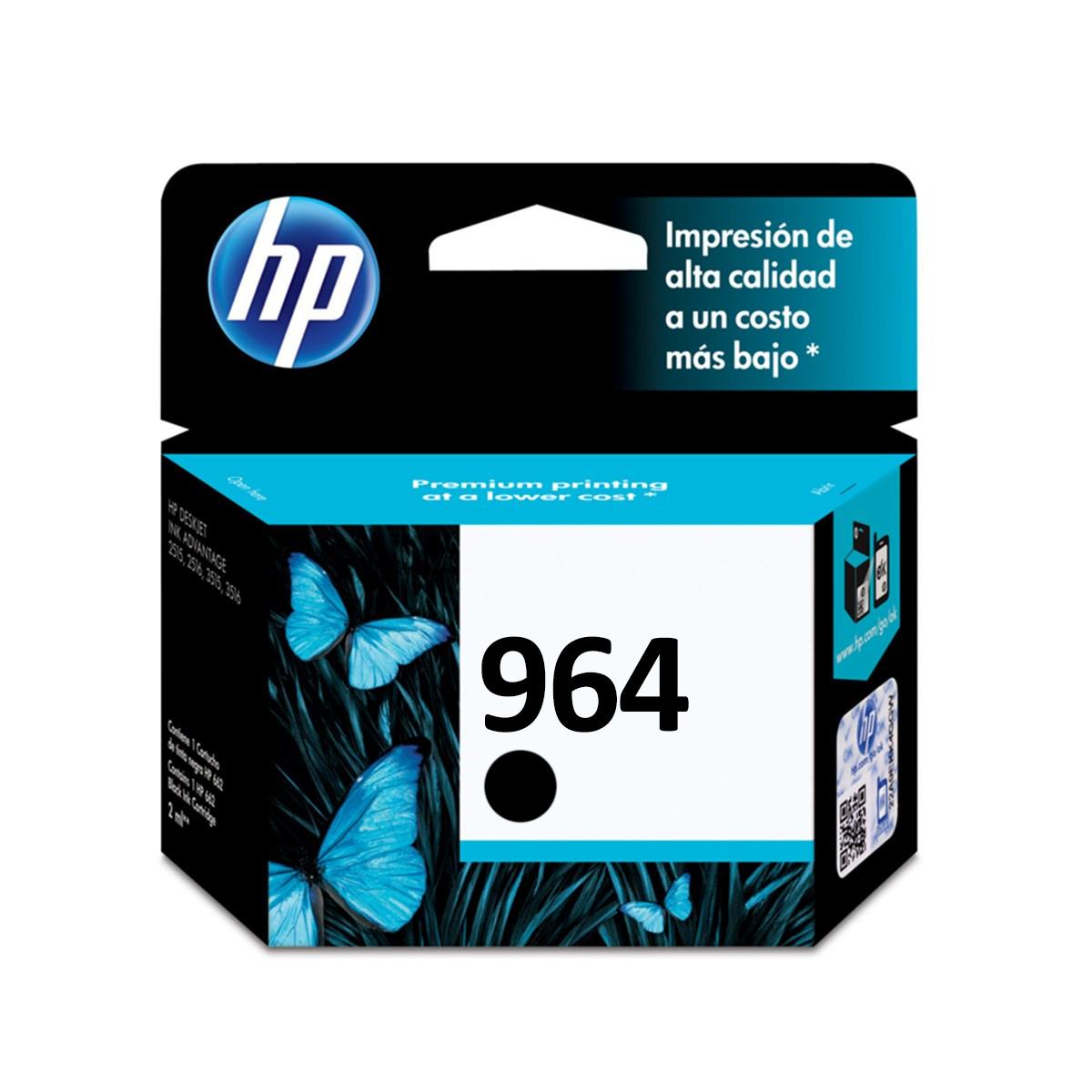 Cartucho de Tinta HP 964 3JA53A Preto   9010 9020   Original