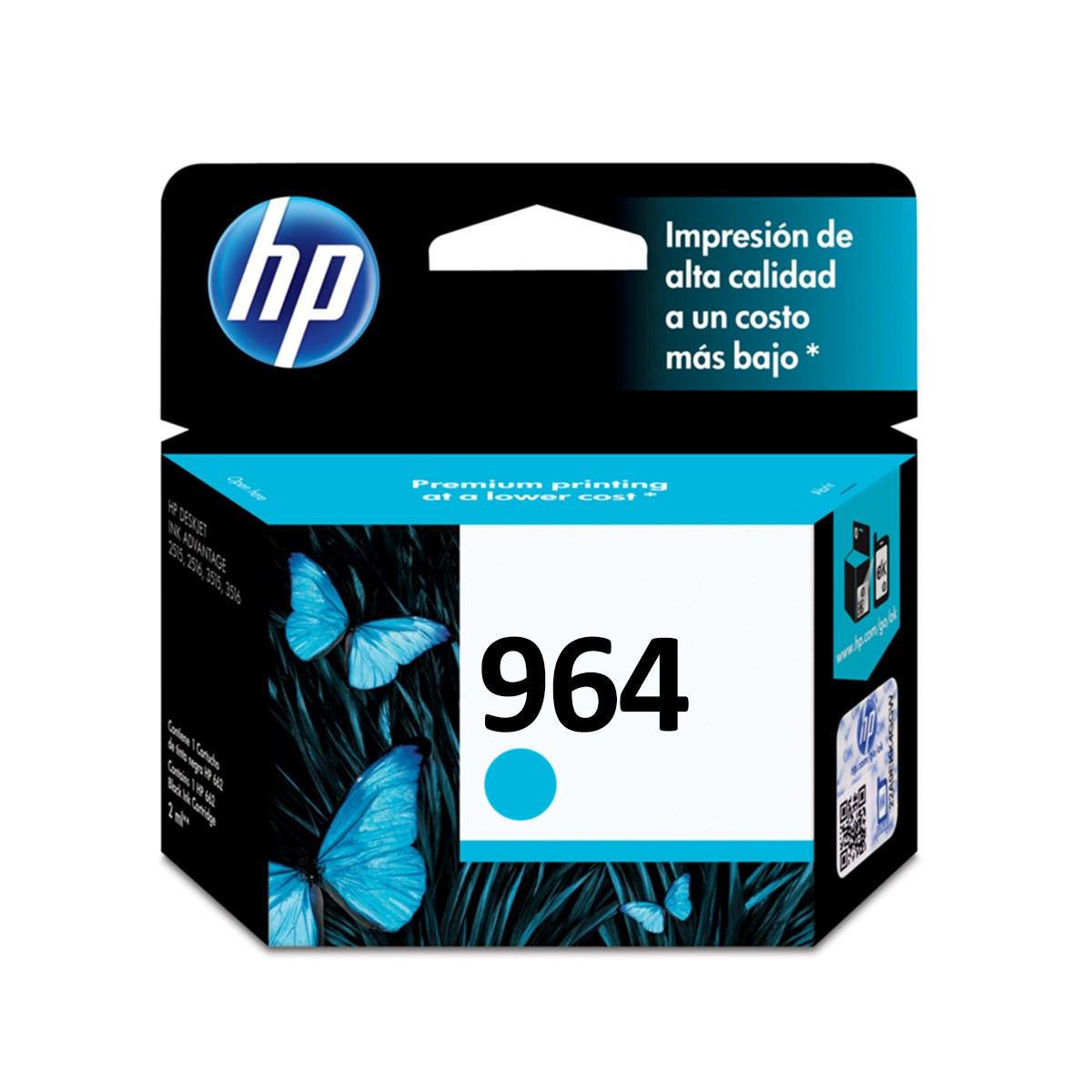Cartucho de Tinta HP 964 Ciano 3JA50AL   9010 9020   Original