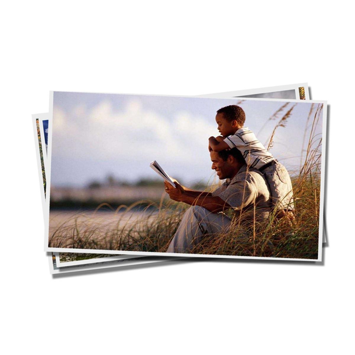 Caixa com 50 Unidades do Papel Fotográfico Glossy 180g   tamanho A4   Pacote com 20 folhas