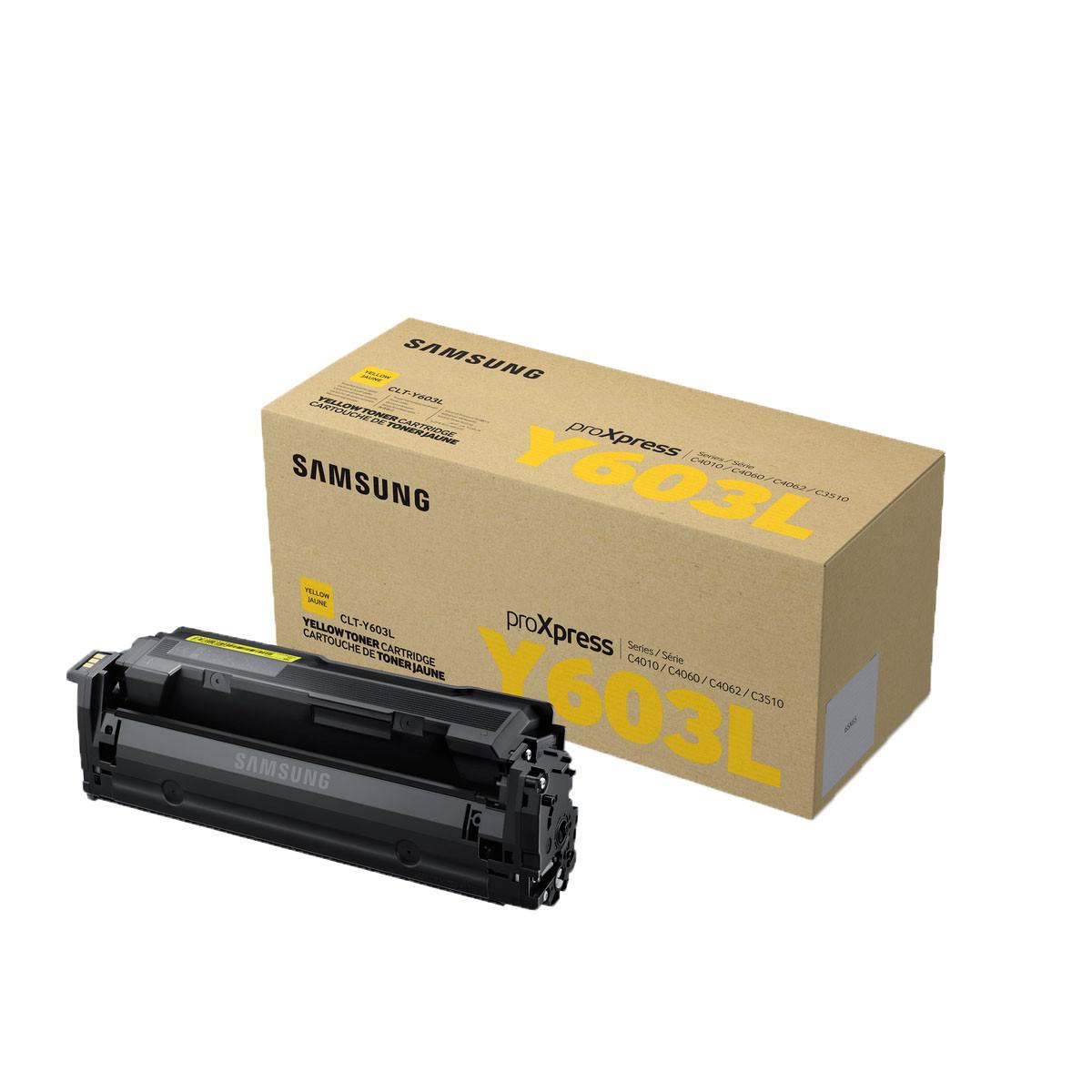 Toner Samsung CLT-Y603L Y-603L Amarelo | C4010 C4060 | Original 10K