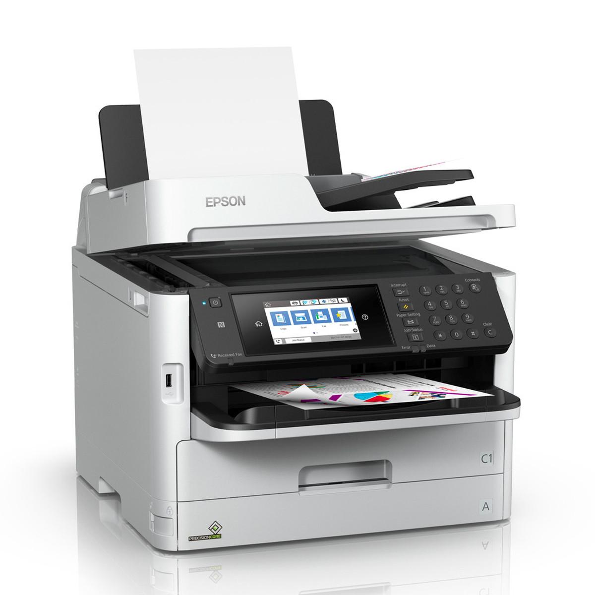Impressora Epson WorkForce Pro WF-C5790 C5790   Multifuncional com Bolsa de Tinta Colorida Wireless