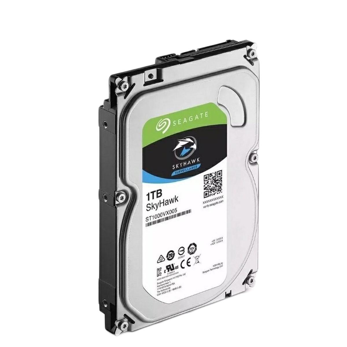 "HD Interno SkyHawk 1TB Seagate ST1000VX005 3,5"" (polegadas) 5.900RPM 64MB Cache SATA 3 300MB/s"