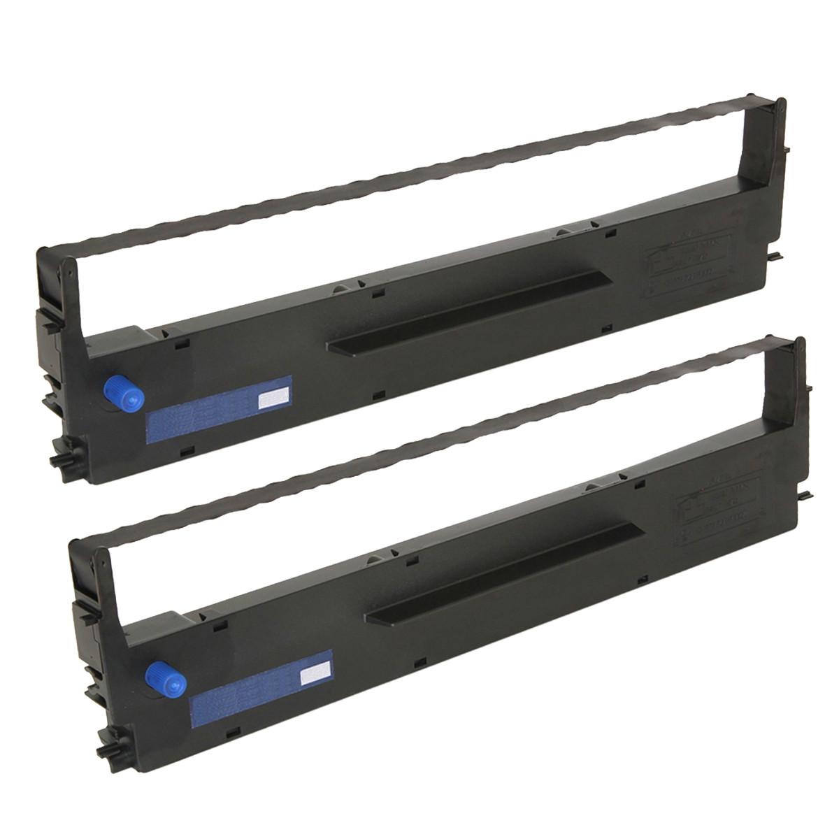 Fita para Impressora Epson Preta MX80 LX810 300 | 13mmx10m Nylon | Caixa com 2 unidades | Compatível