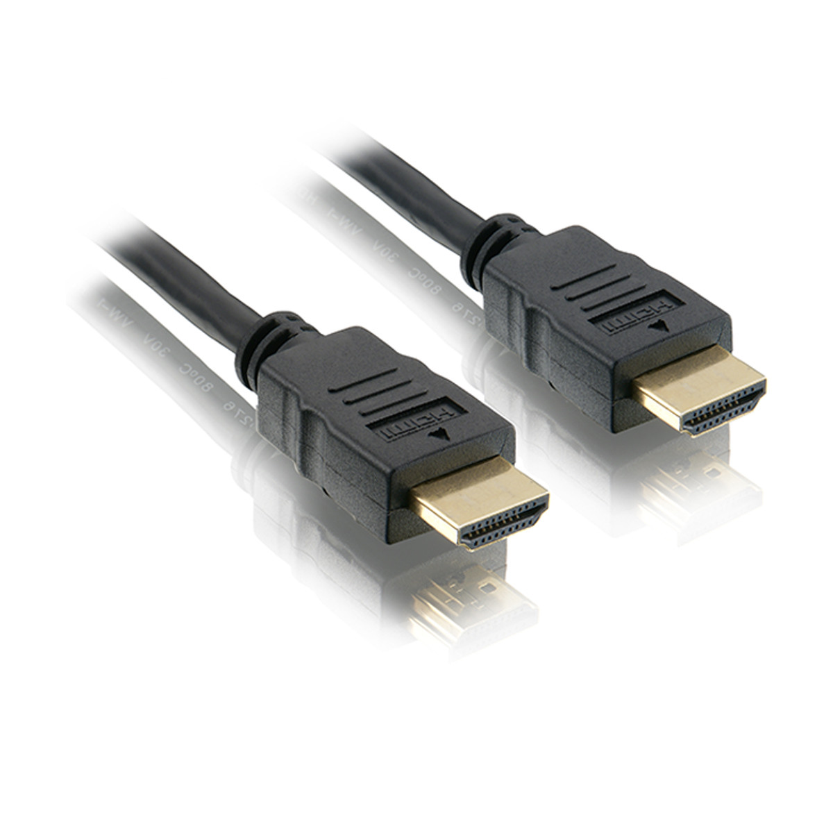 Cabo HDMI 3 metros de comprimento Versão 1.4 Conector PVC | Preto Elgin