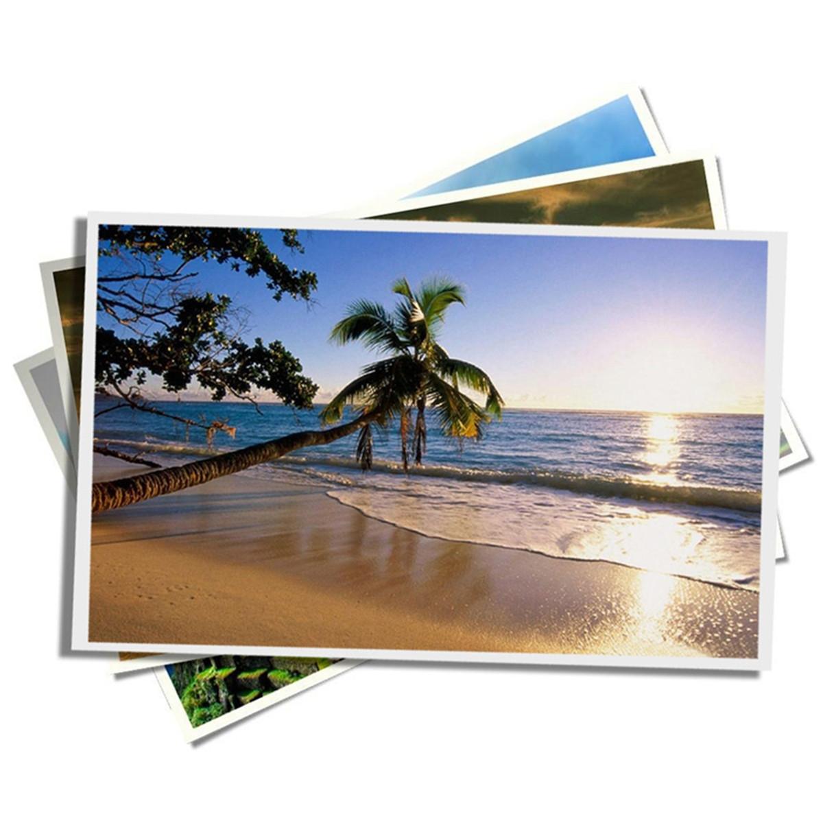 Papel Fotográfico Glossy Brilhante Adesivo   80g tamanho A4   Pacote com 20 folhas