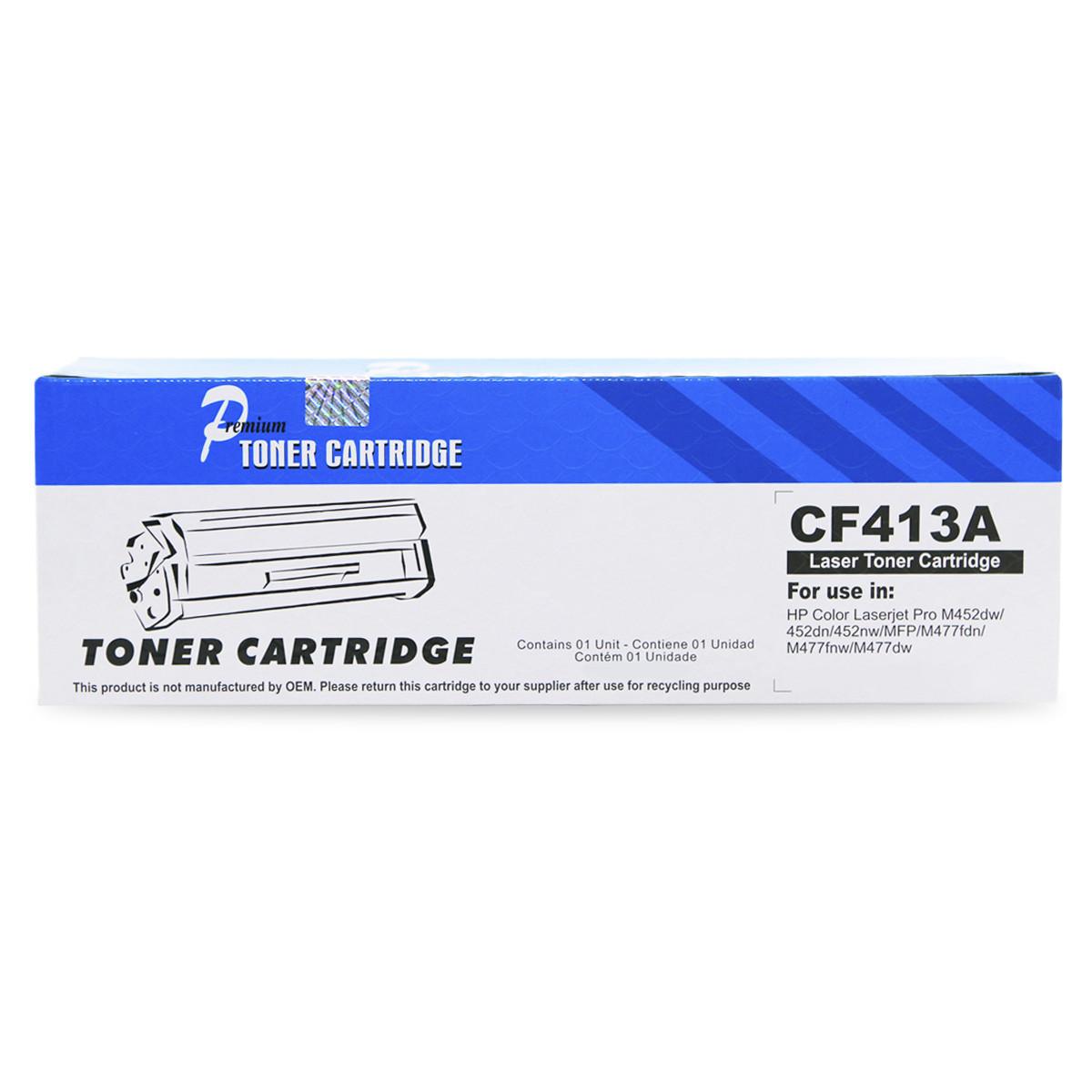 Toner Compatível com HP CF413A Magenta   M452DW M452DN M477FDW M477FNW M477FDN   Premium 2.3k