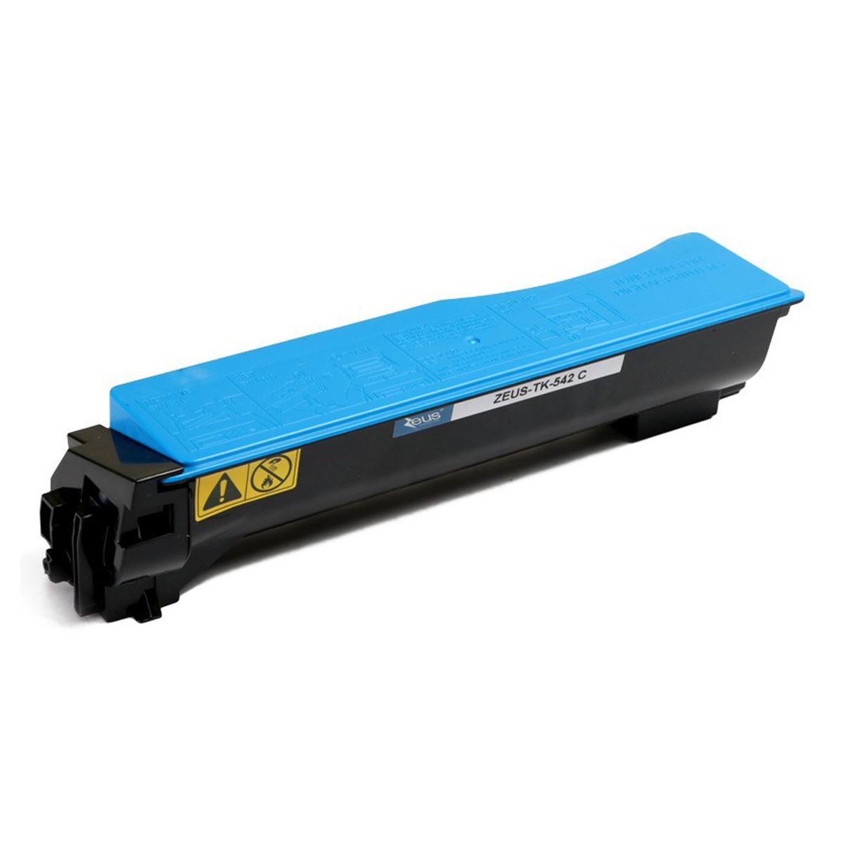 Toner Compatível com Kyocera TK542 TK542C Ciano   FS-C5100DN FSC5100 C5100DN   Zeus 4k
