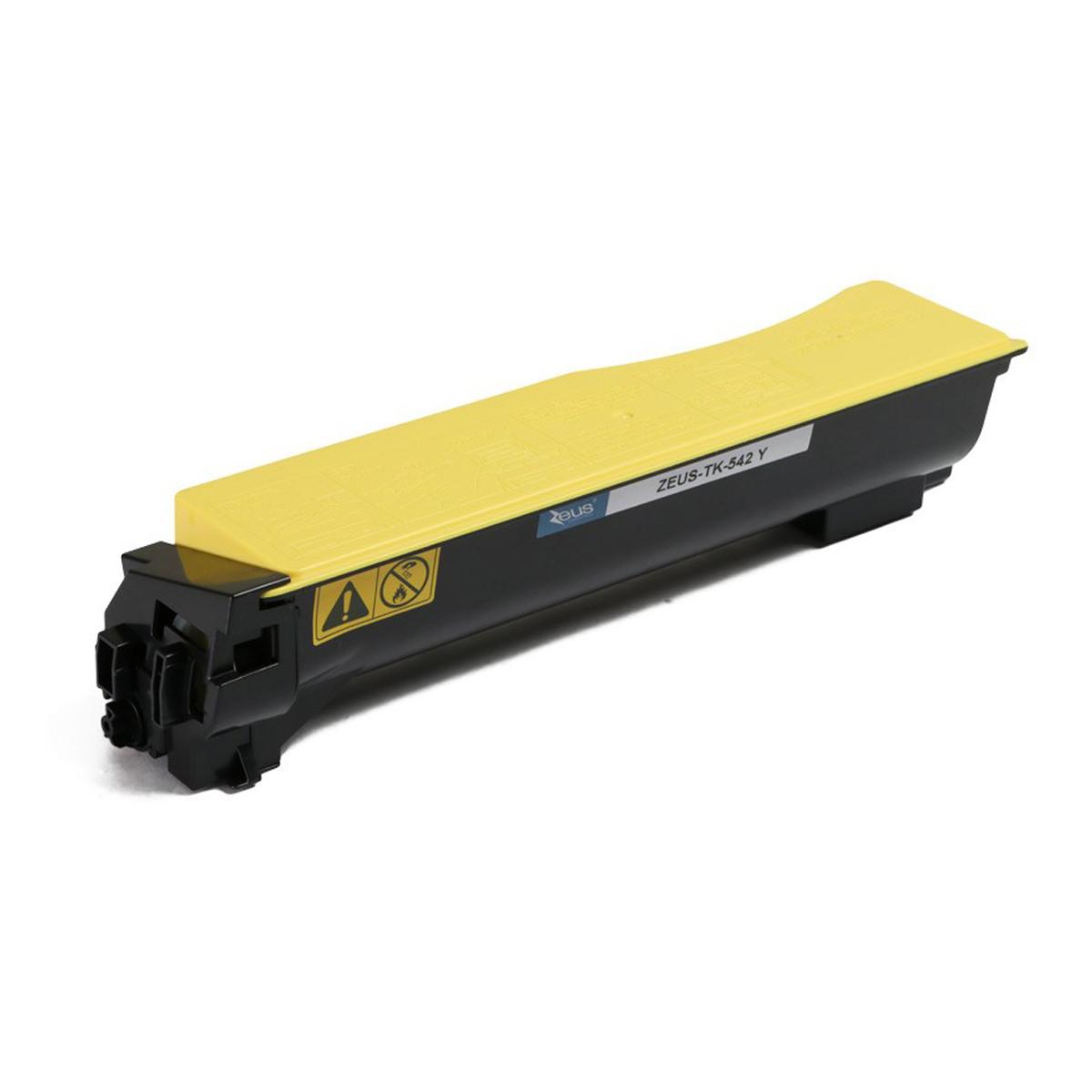 Toner Compatível com Kyocera TK542 TK542Y Amarelo | FS-C5100DN FSC5100 C5100DN | Zeus 4k