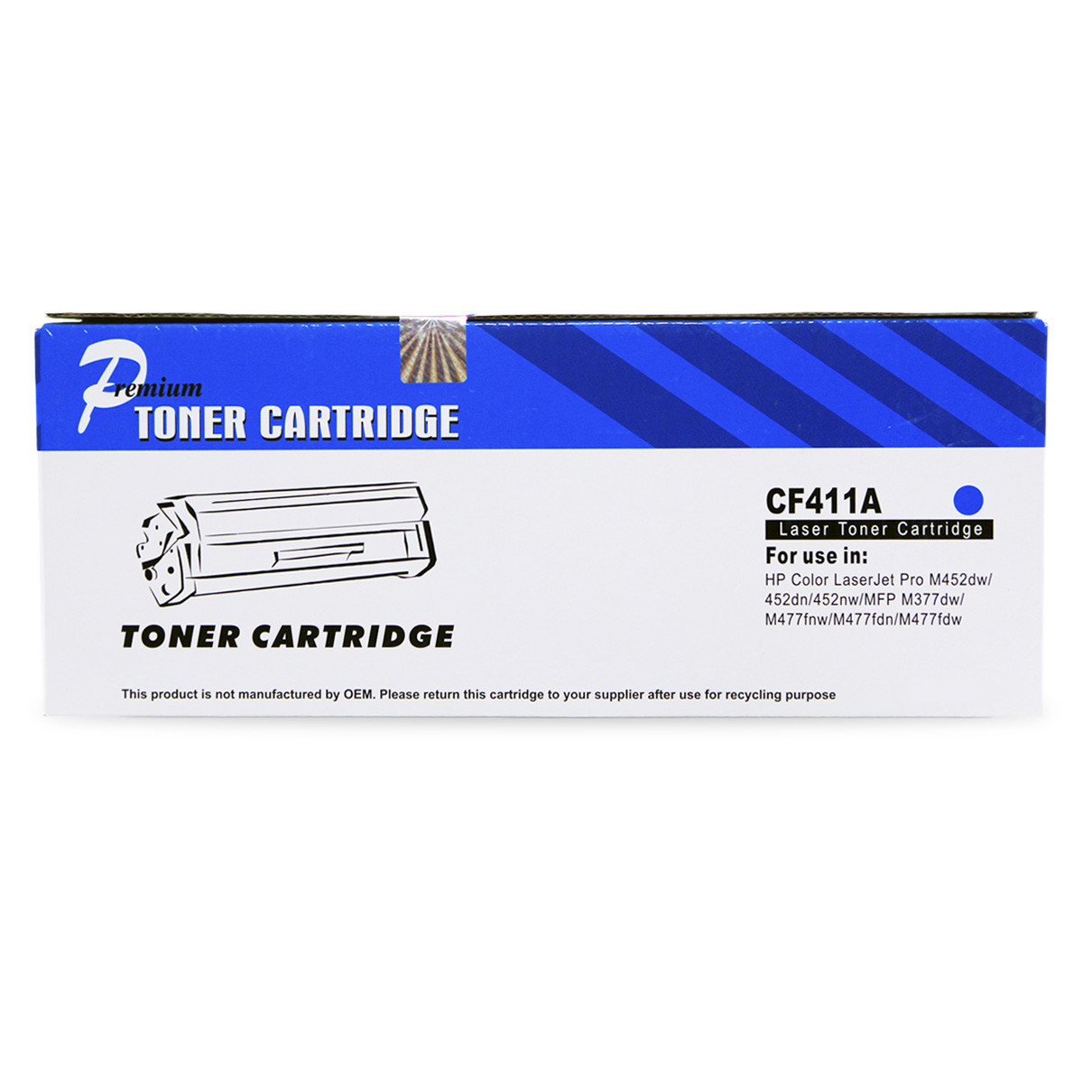 Toner Compatível com HP CF411A Ciano | M452DW M452DN M477FDW M477FNW M477FDN | Premium 2.3k