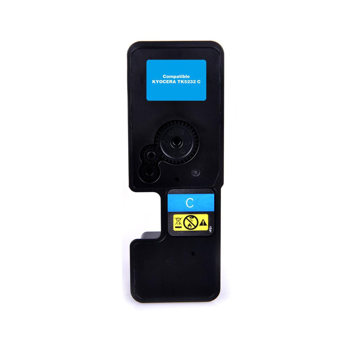 Toner Compatível com Kyocera TK-5232C TK5232 Ciano   P5021CDN 5021CDN M5521CDN   Importado 2.2k