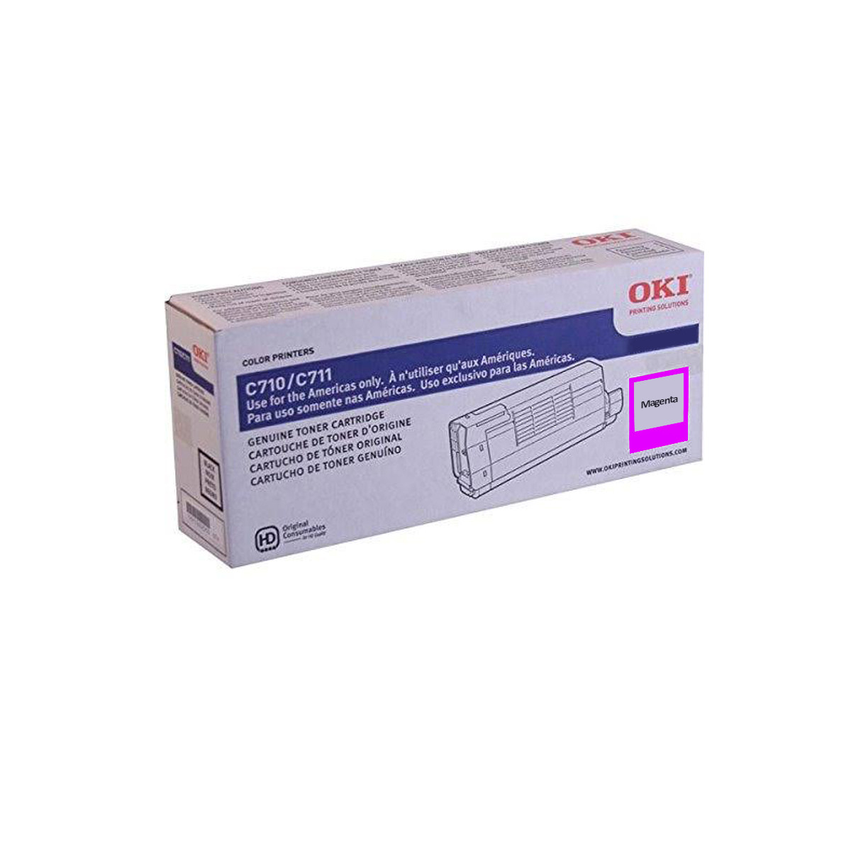 Toner Okidata Magenta | C711 C711N C711WT | 44318602 | Original 11.5k