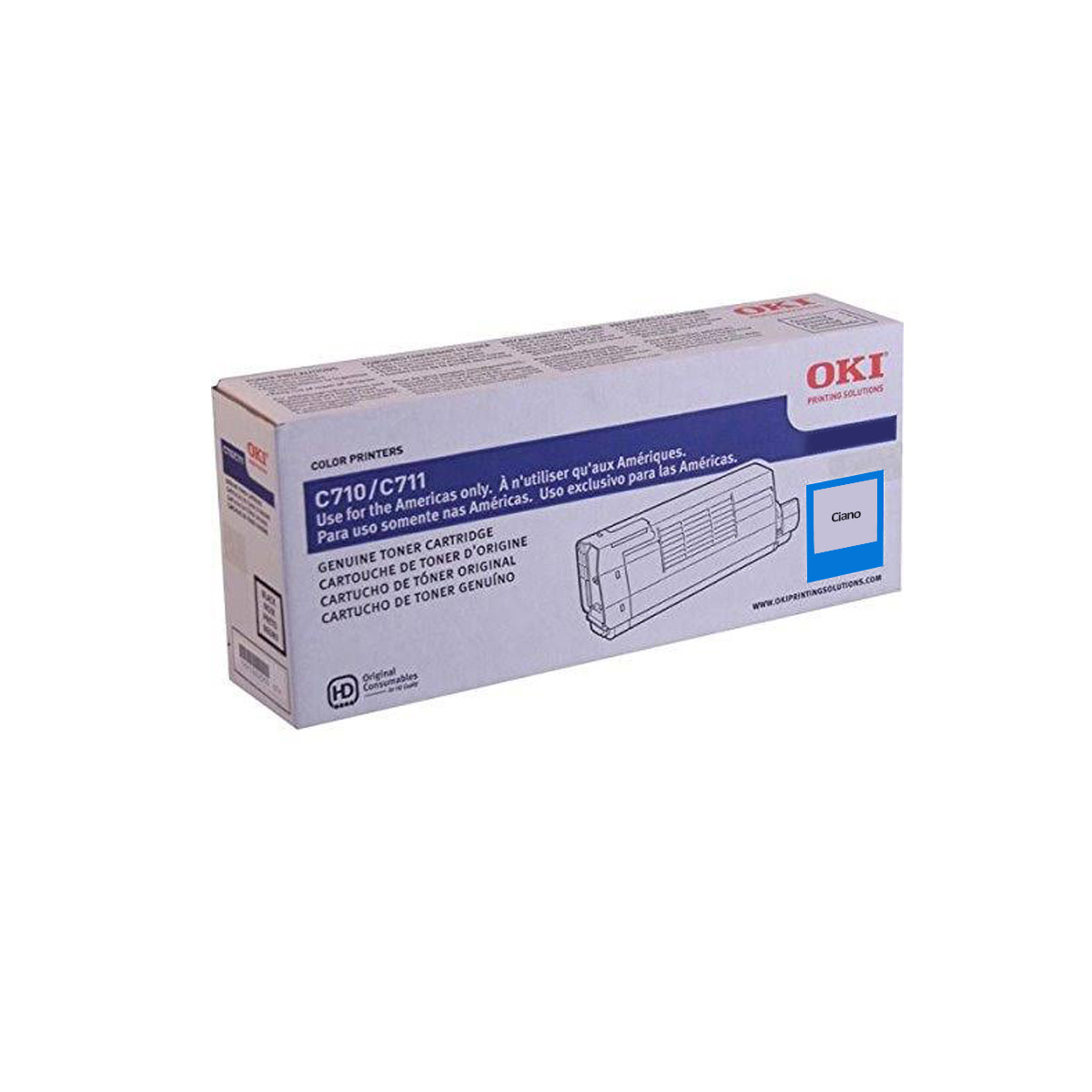Toner Okidata Ciano | C711 C711N C711WT | 44318603 | Original 11.5k