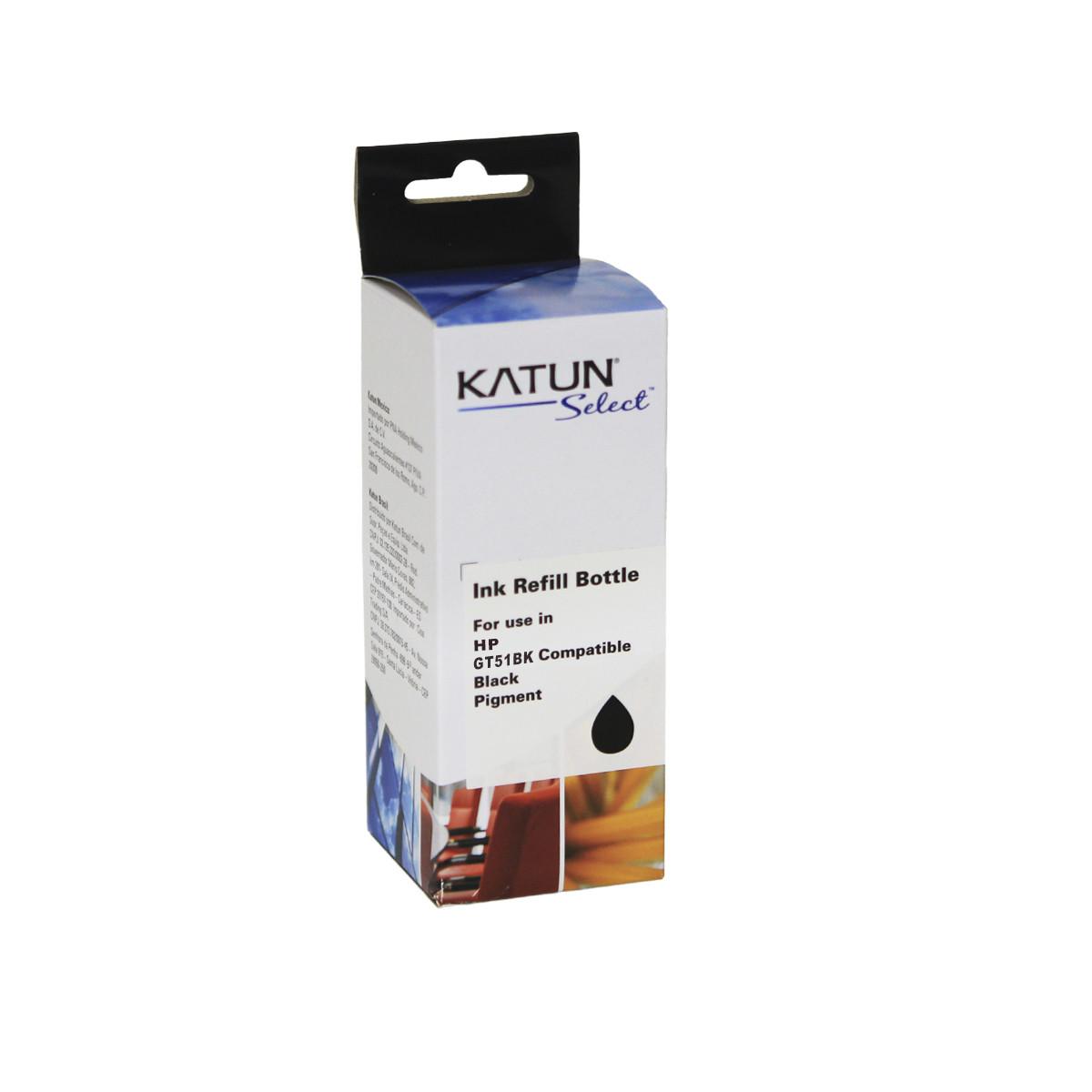 Tinta Compatível com HP GT51BK M0H57AL Preto   GT5822 GT5820 GT5810 GT5811   Katun Select 100ml
