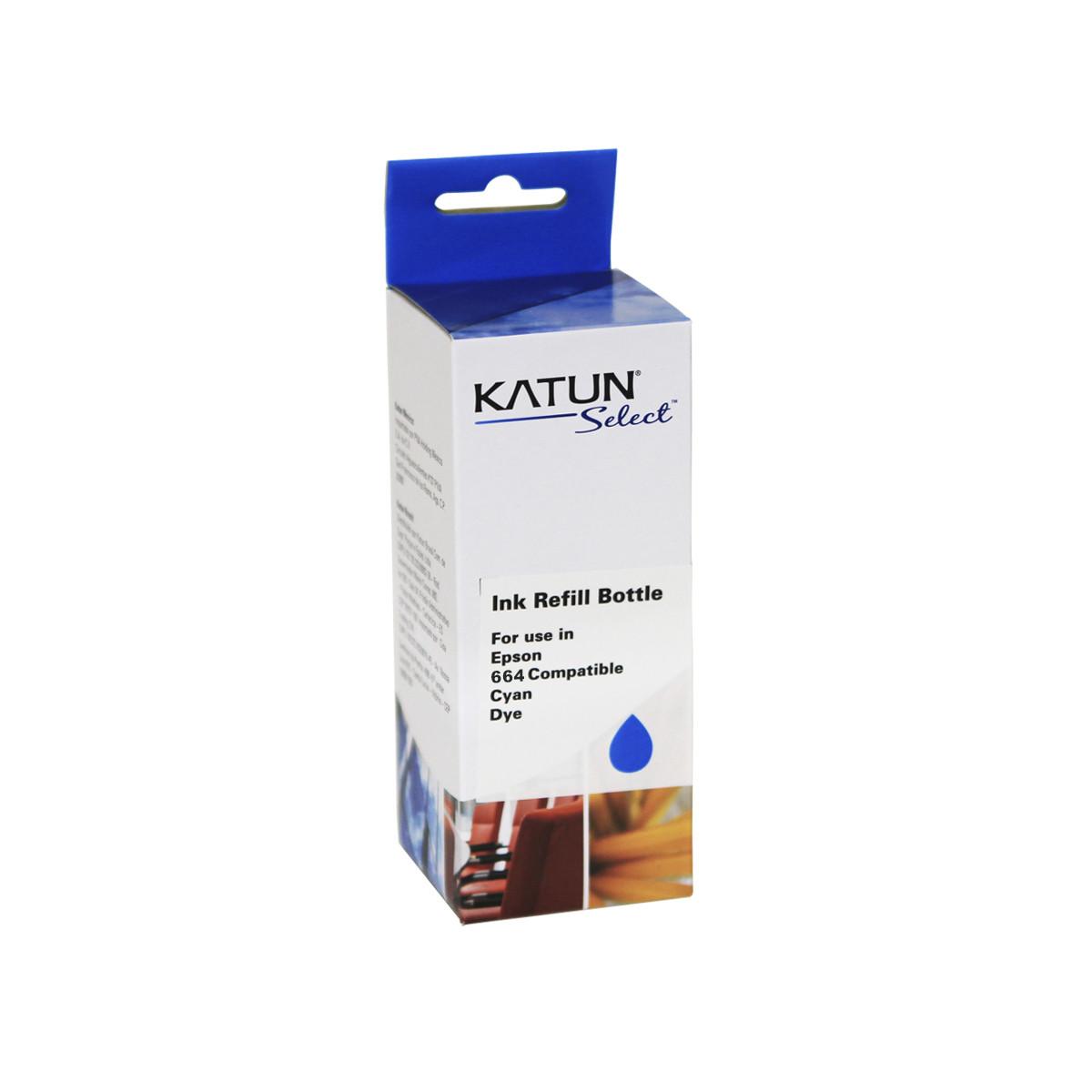 Tinta Compatível com Epson T664 T664220 Ciano   L355 L365 L555 L455 L475 L395   Katun Select 100ml