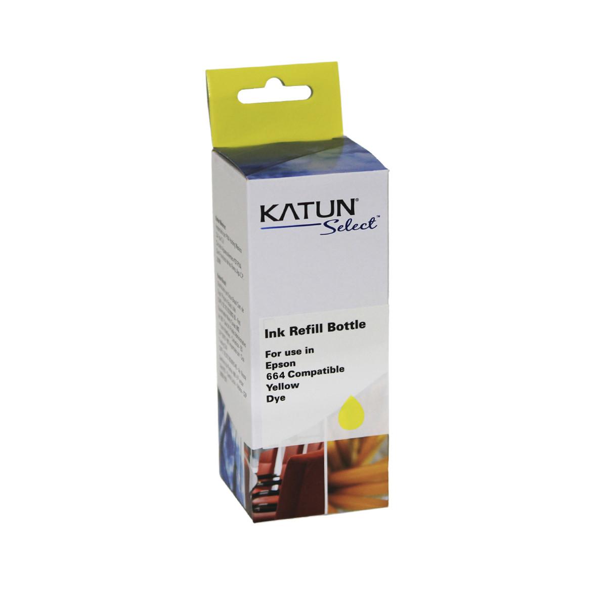 Tinta Compatível com Epson T664 T664420 Amarelo | L355 L365 L555 L455 L475 L395 | Katun Select 100ml