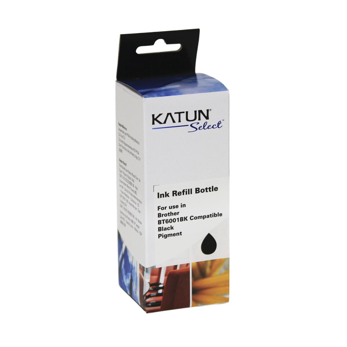 Tinta Compatível com Brother BT6001BK Preto | T-300 T-500W T-700W T-800W | Katun Select 100ml