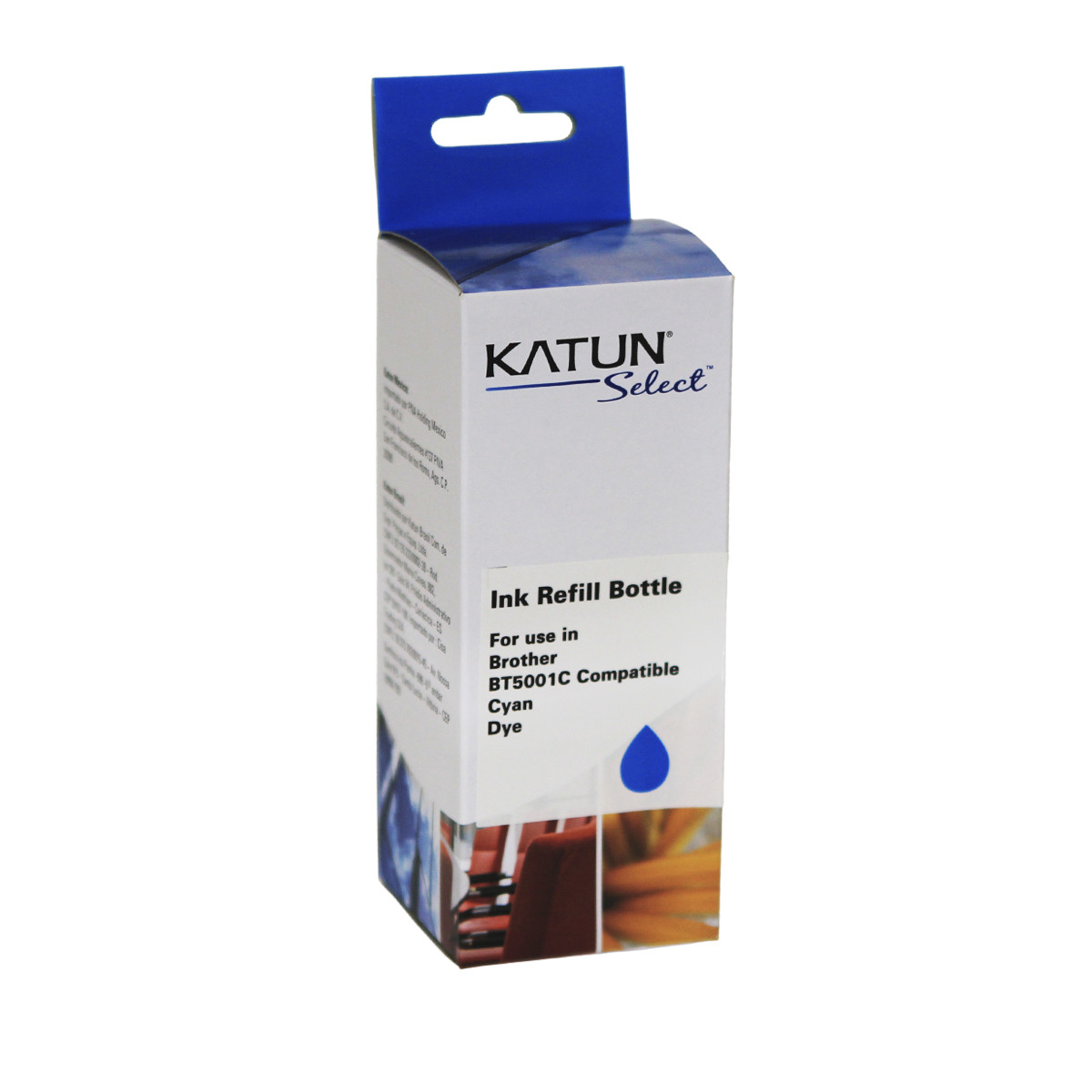 Tinta Compatível com Brother BT5001C Ciano | T-300 T-500W T-700W T-800W | Katun Select 100ml