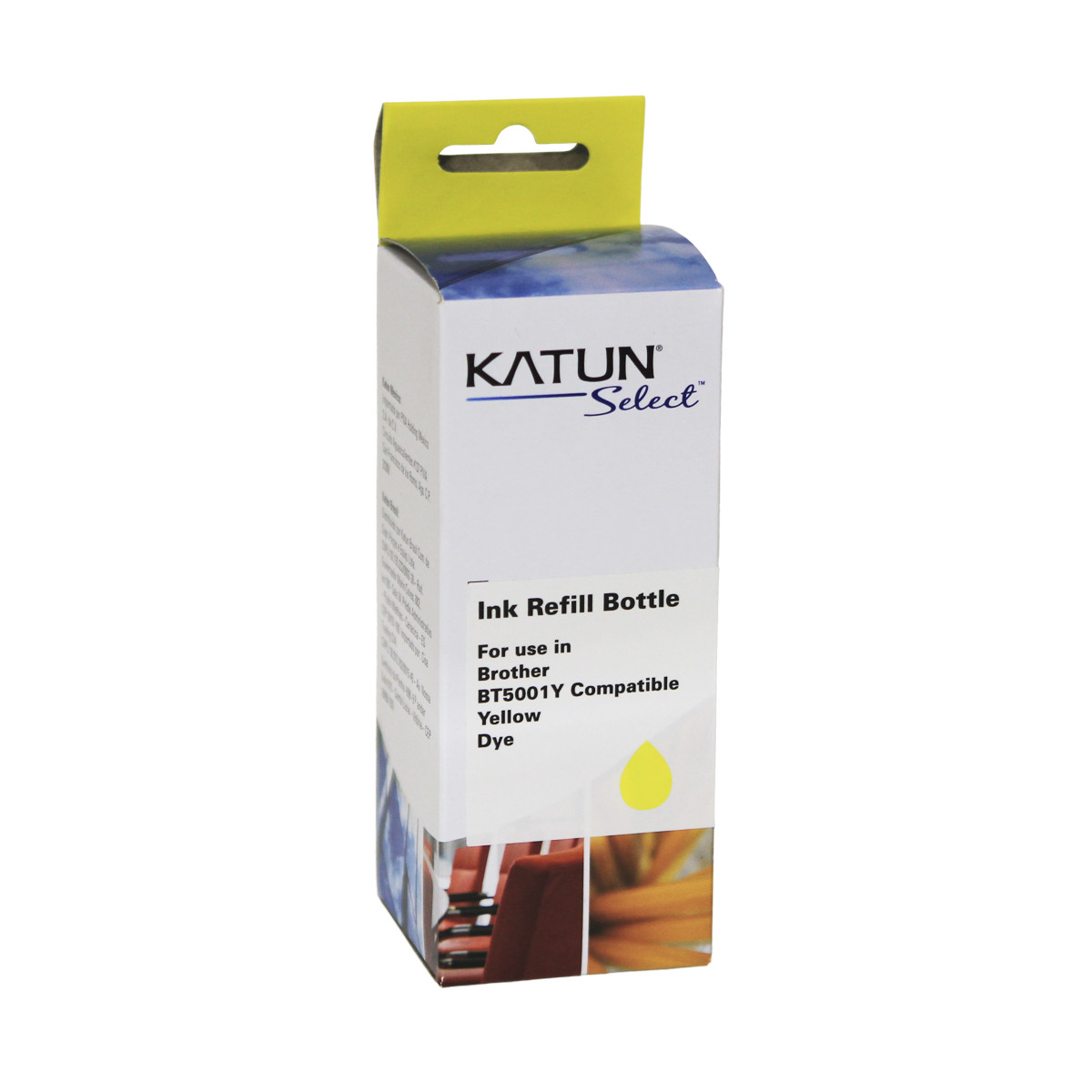 Tinta Compatível com Brother BT5001Y Amarelo | T-300 T-500W T-700W T-800W | Katun Select 100ml