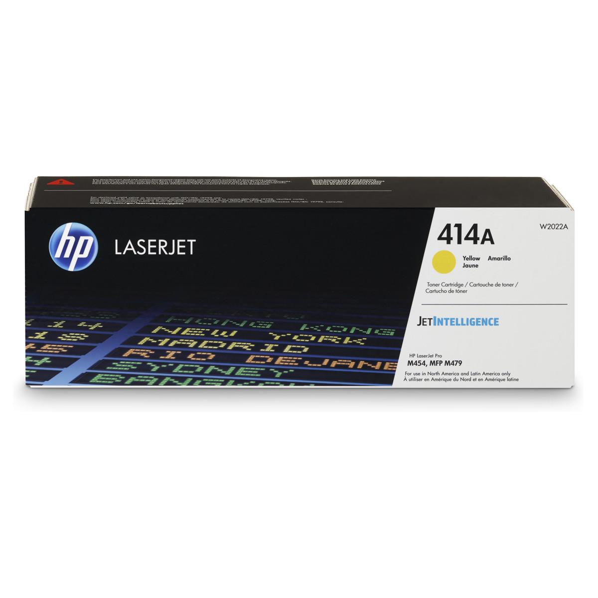 Toner HP W2022A 414A Amarelo   M454DW M454DN M479FDW M479DW M479FDN   Original 2.1k