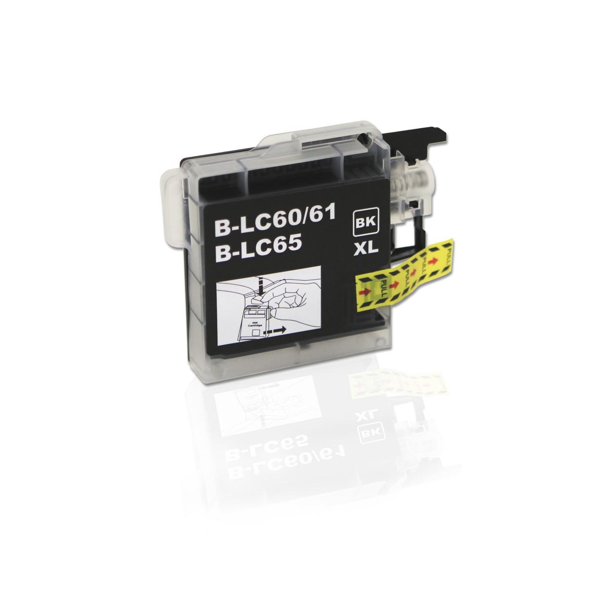 Cartucho de Tinta Compatível com Brother LC-61BK LC-61 Preto | MFC-250C DCP-6690CW MFC-5490CN | 28ml