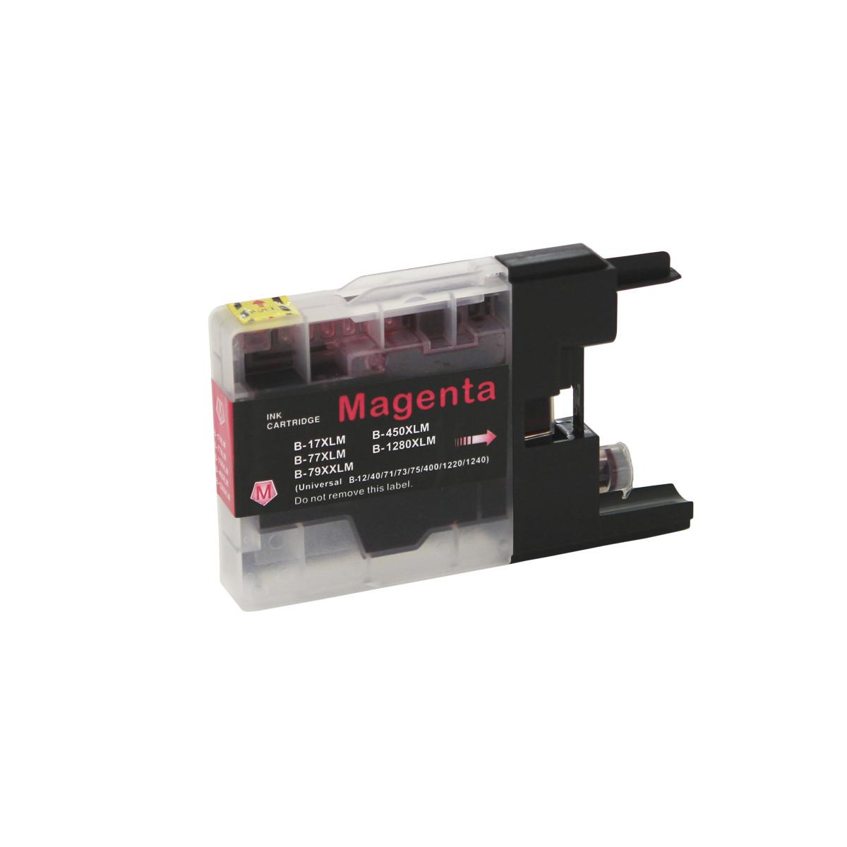 Cartucho de Tinta Compatível com Brother LC-75M LC-79M Magenta   MFC-J6910DW J430W MFC-J6710DW   4ml