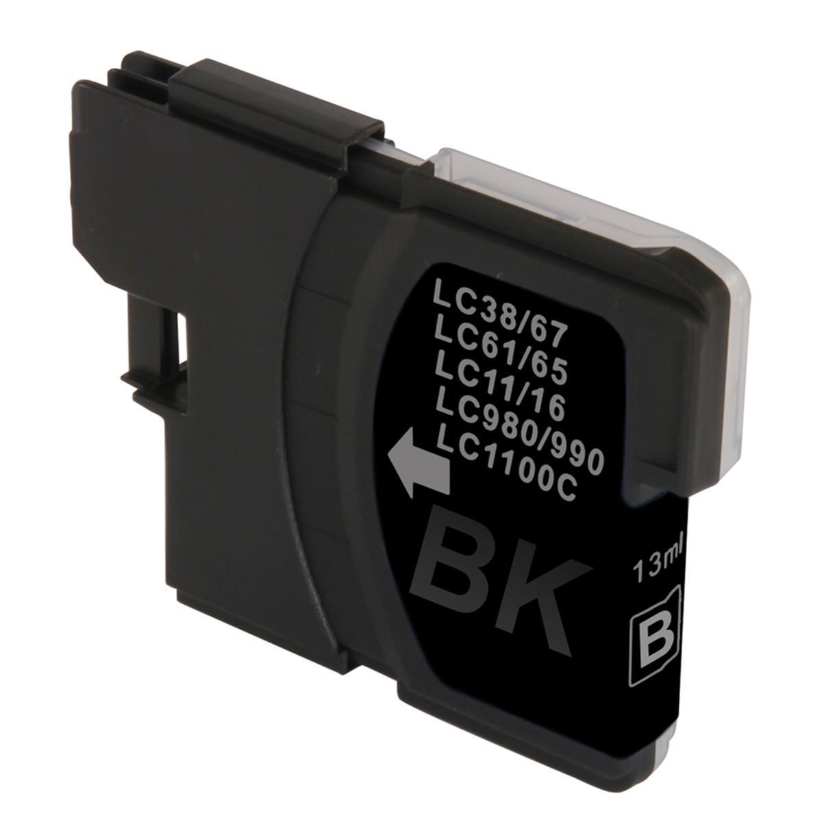 Cartucho de Tinta Compatível com Brother LC-61BK LC-61 Preto | MFC-250C DCP-6690CW MFC-5490CN 16ml