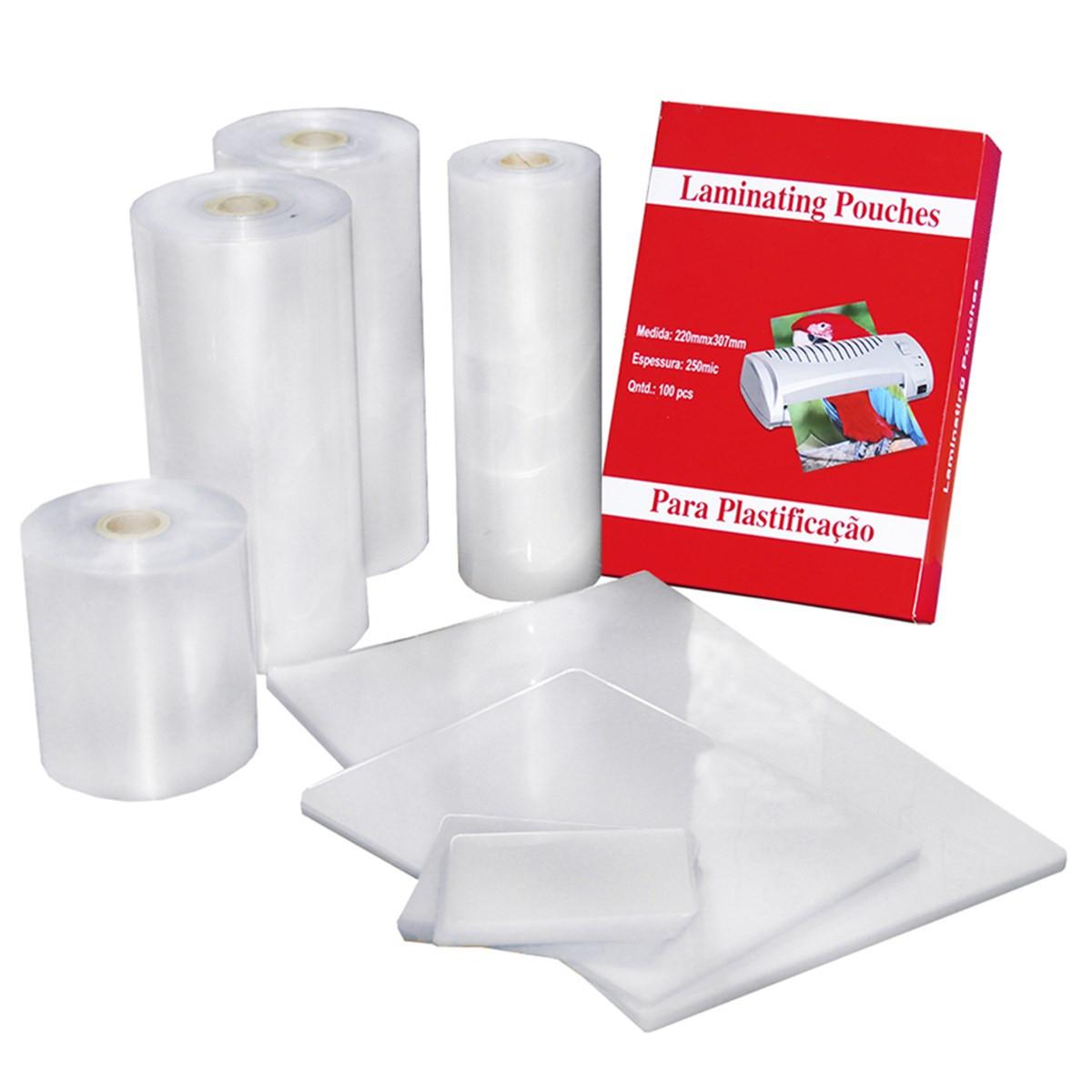 Polaseal para Plastificação   Crachá 59x86mm   175 MIC   100 Unidades