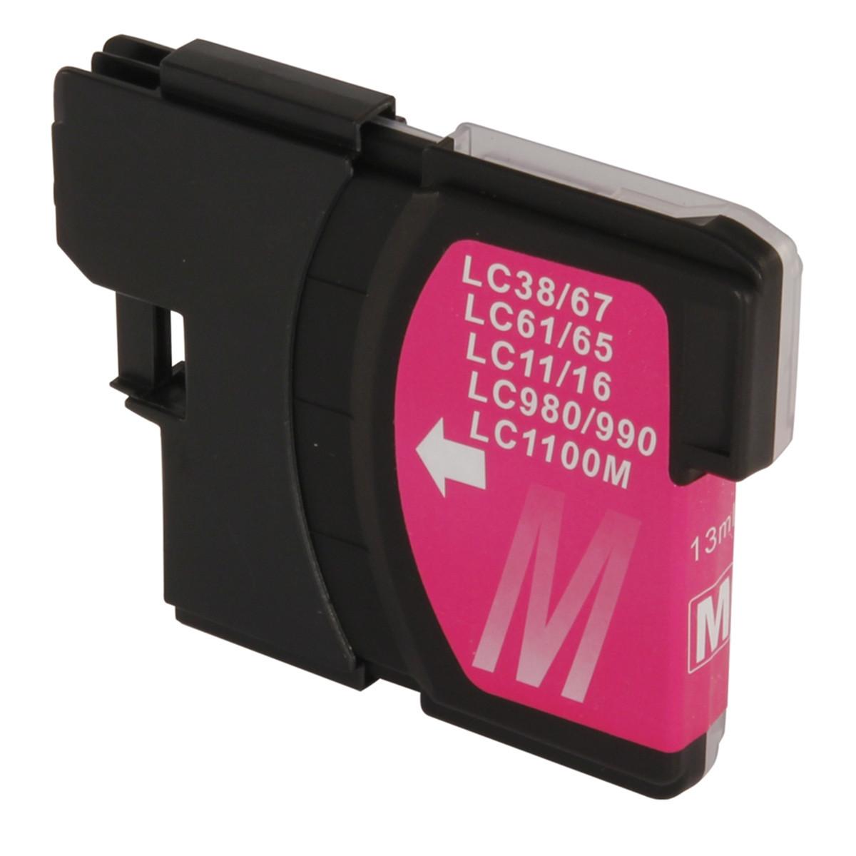 Cartucho de Tinta Compatível com Brother LC-61M LC-61 Magenta | DCP-585CW MFC-490CW MFC-990CW 13ml