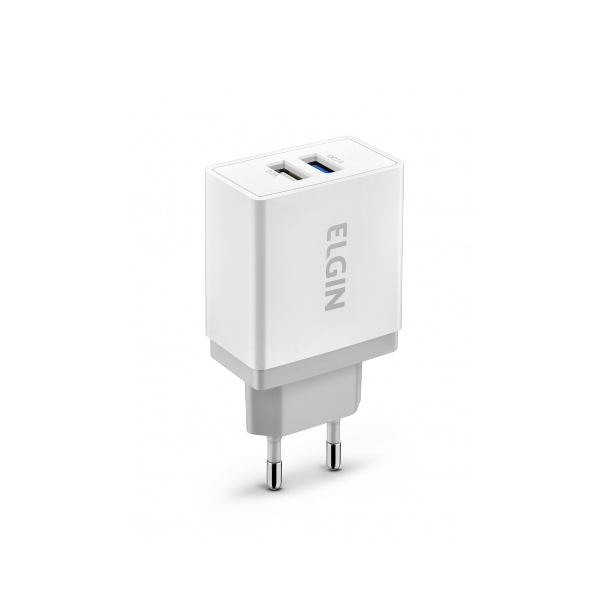 Carregador USB para Tomada Elgin Quick Charger com 2 Saída 2A 5V Potência 22W Bivolt