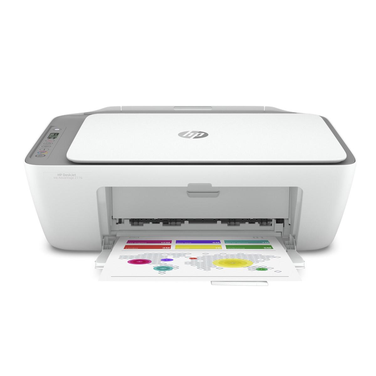 Impressora HP DeskJet 2776 7FR20A Multifuncional Ink Advantage