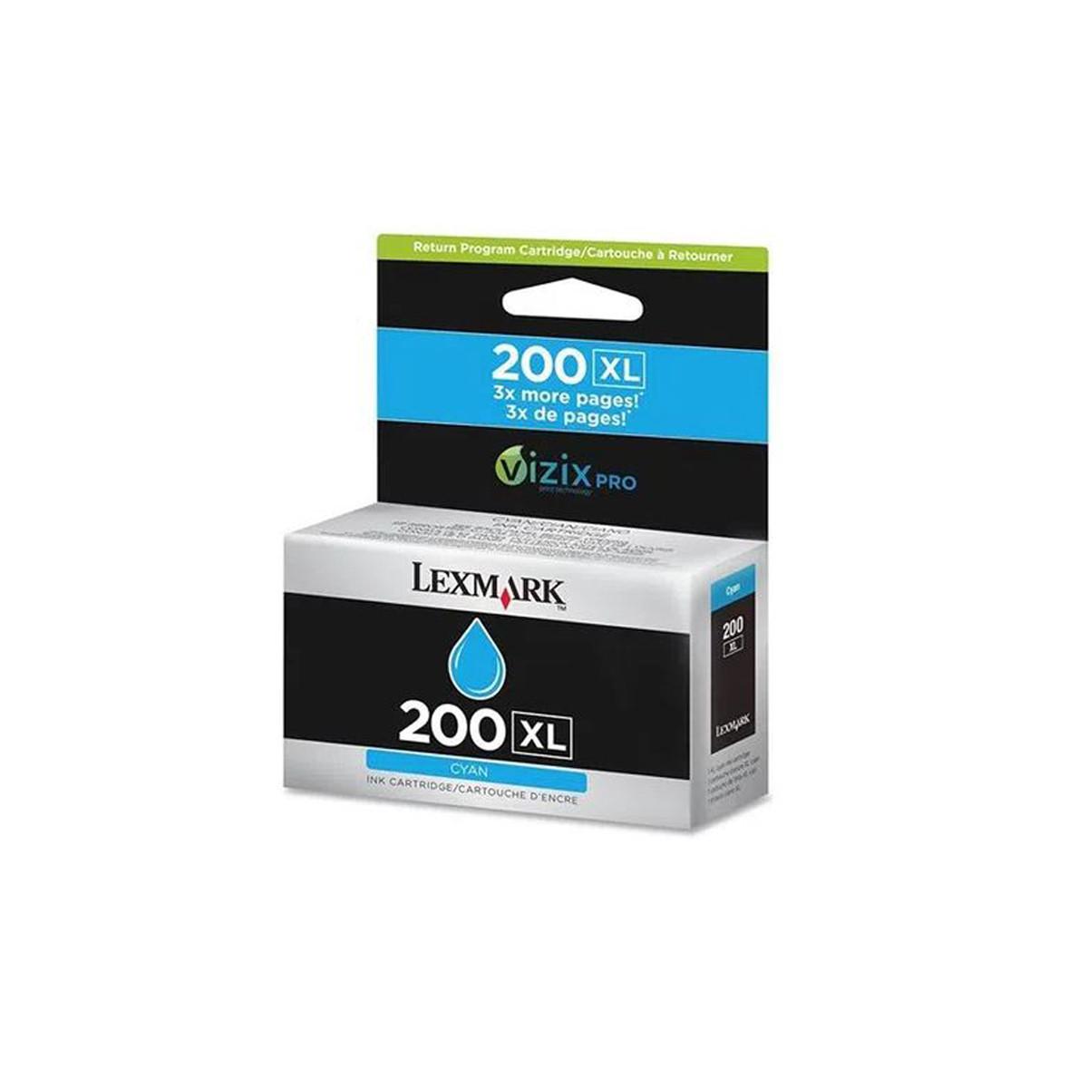 Cartucho de Tinta Lexmark 200XL 14L0175 Ciano   Pro 5500 Pro 5500T Pro 4000   Original 30,5ml